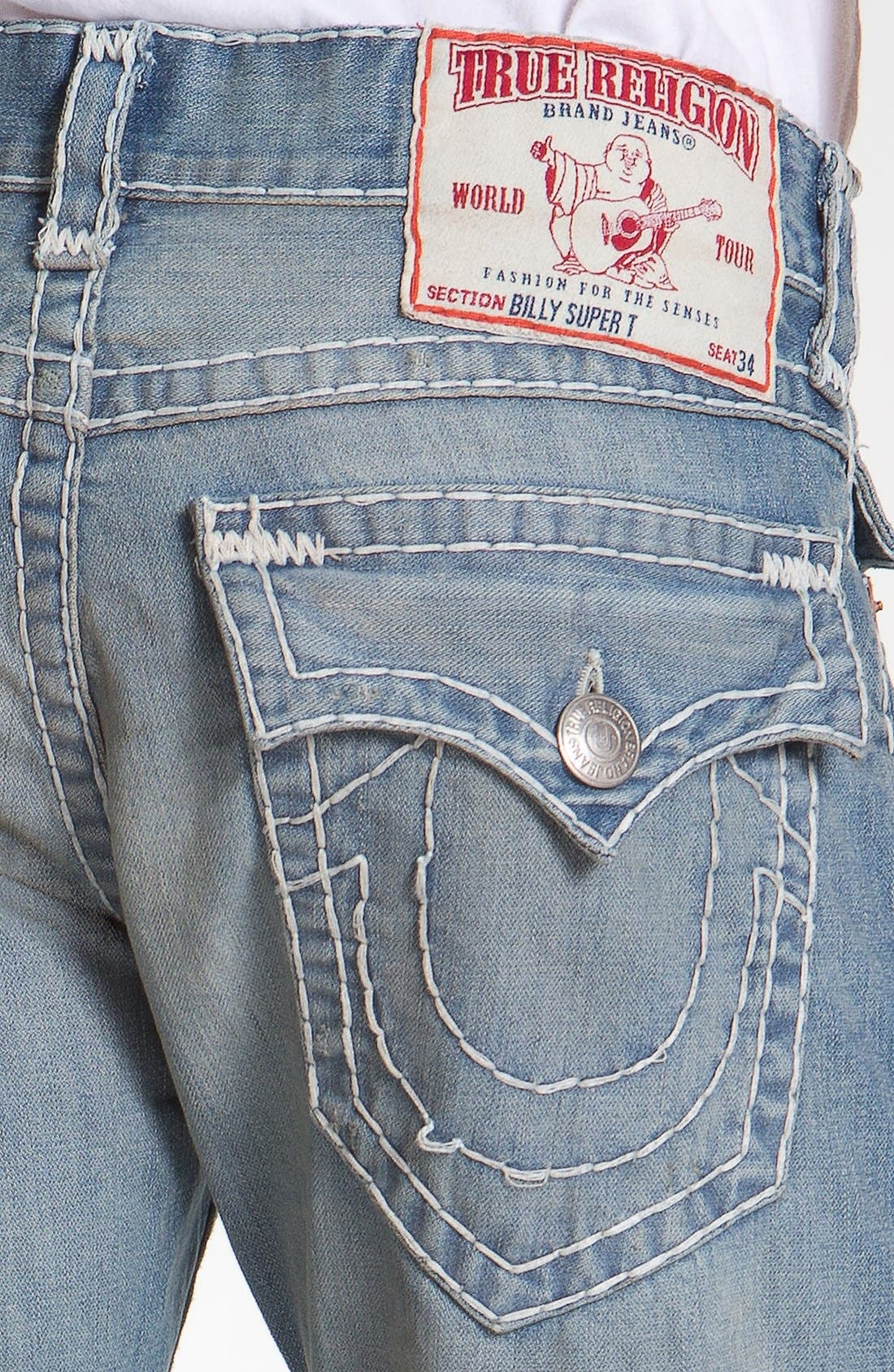 Alternate Image 4  - True Religion Brand Jeans 'Billy - Natural Super-T' Bootcut Jeans (Wicket)