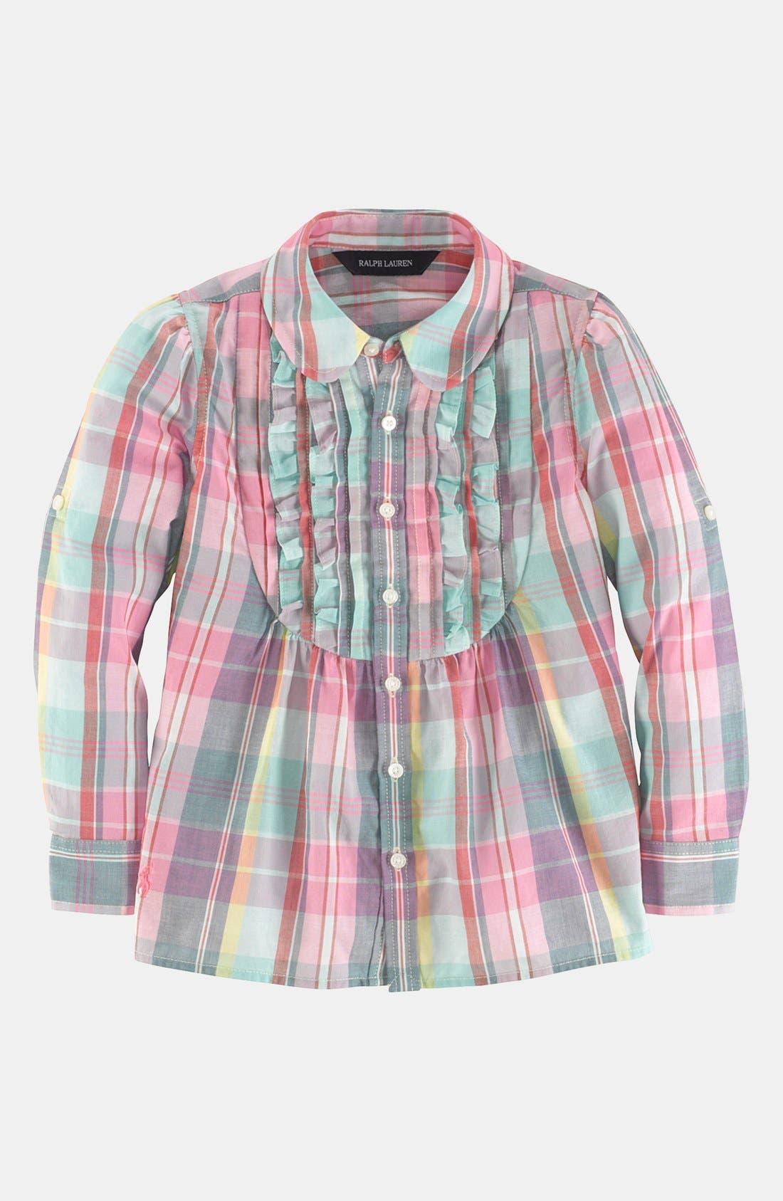 Alternate Image 1 Selected - Ralph Lauren Plaid Tunic (Toddler)