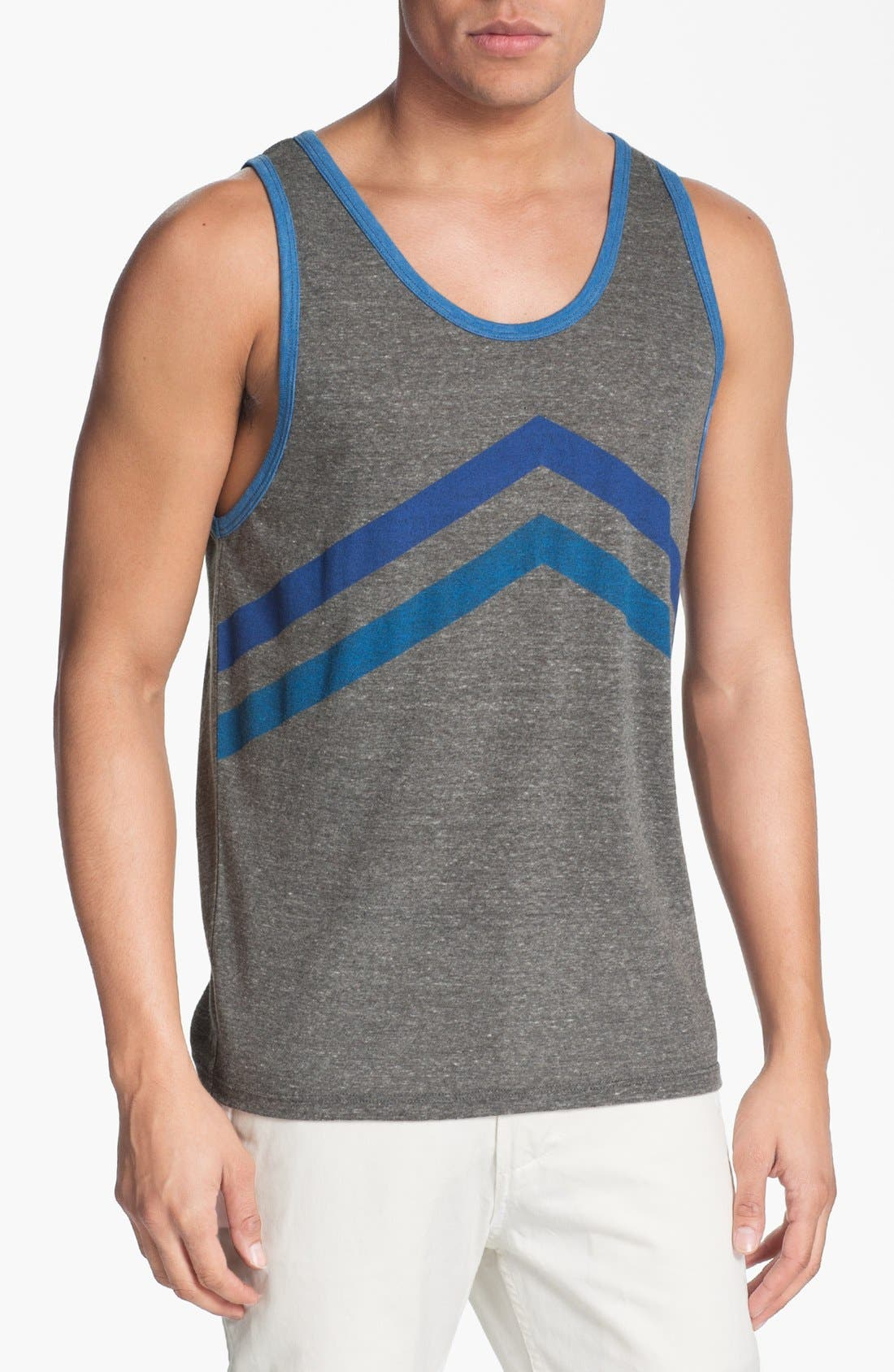 Alternate Image 1 Selected - Threads for Thought Chevron Stripe Print Tank Top