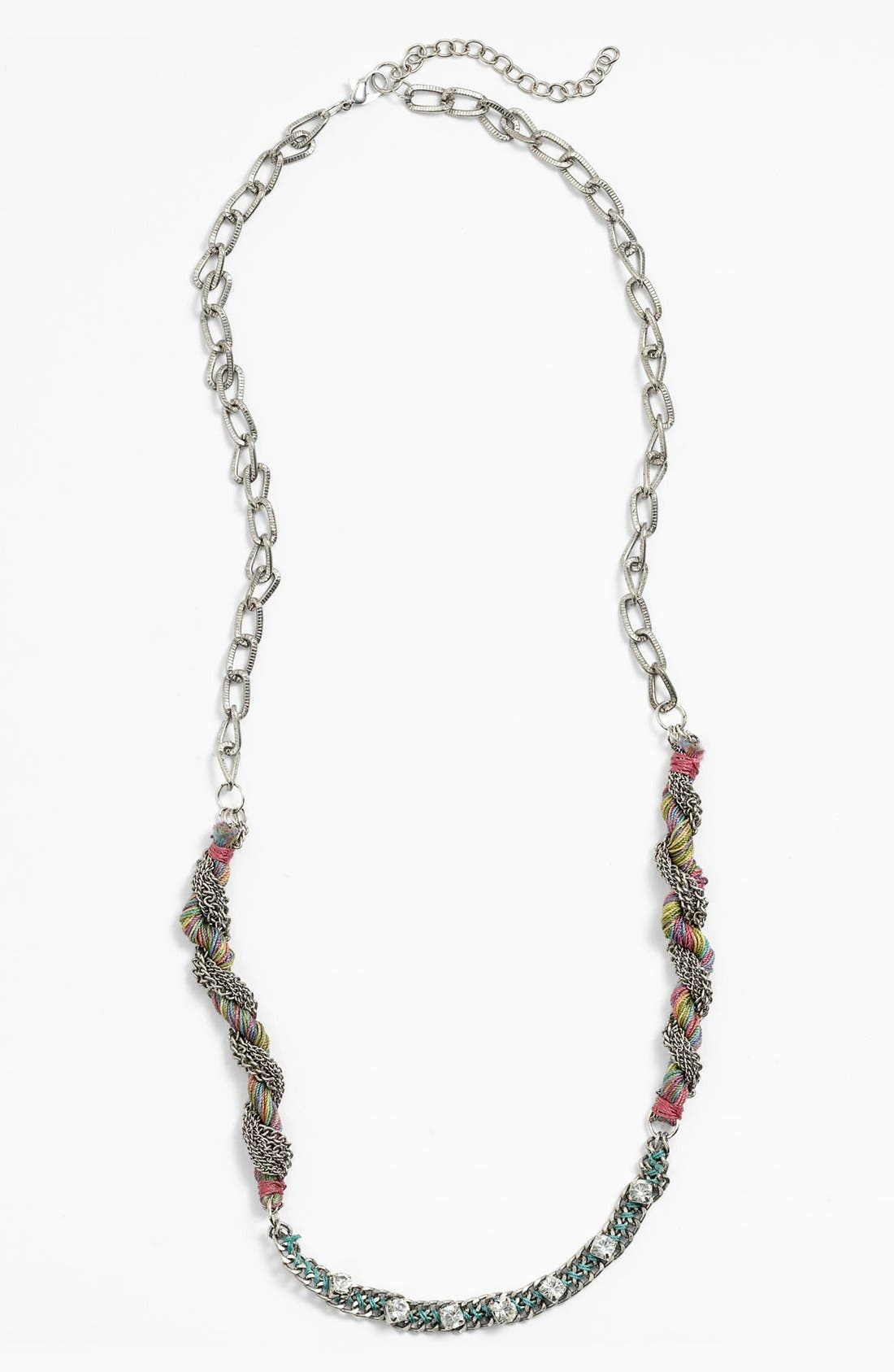 Main Image - Spring Street Mixed Media Statement Necklace
