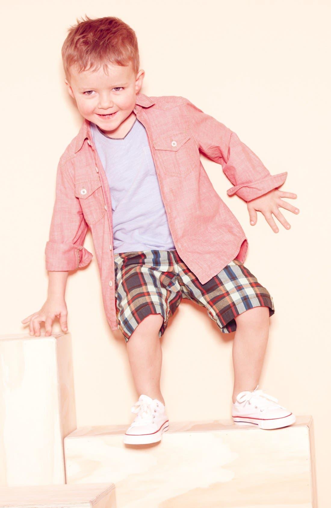 Alternate Image 1 Selected - Tucker + Tate Chambray Shirt, T-Shirt & Converse Sneaker (Toddler)