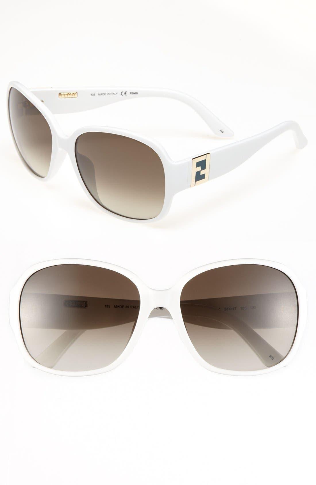 Alternate Image 1 Selected - Fendi 58mm Sunglasses