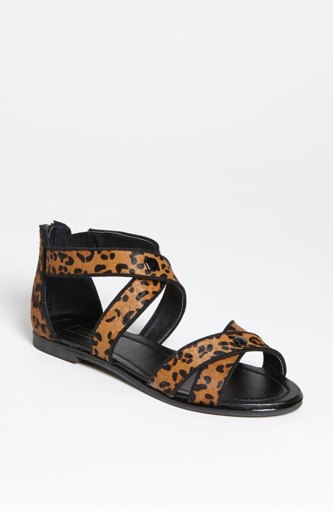 Alternate Image 1 Selected - Topshop 'Figaro' Cross Strap Sandal