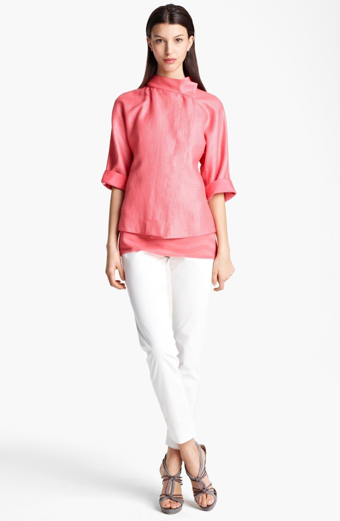 Alternate Image 4  - Armani Collezioni Slim Stretch Cotton Pants