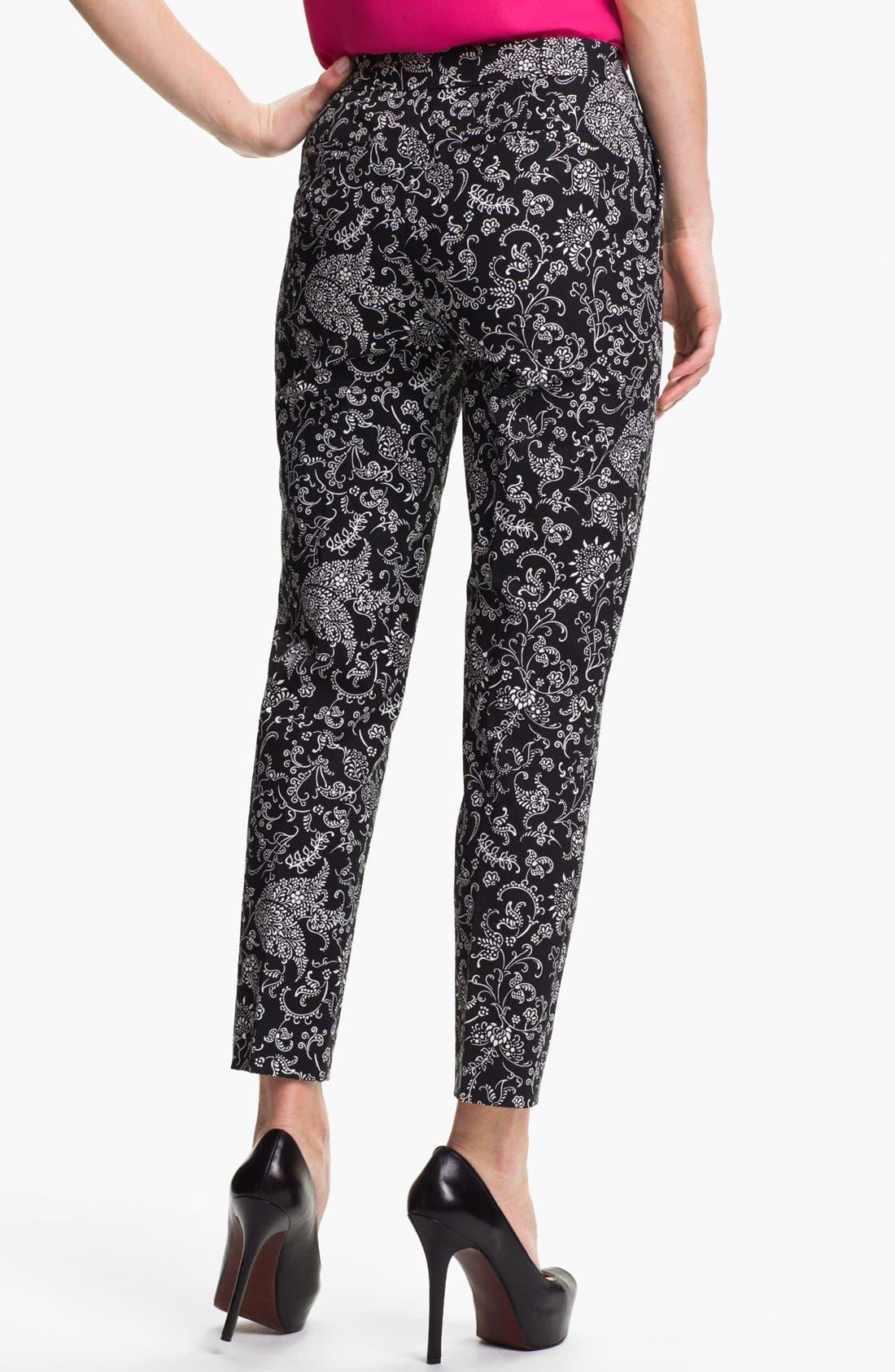 Alternate Image 2  - Halogen® 'Taylor' Patterned Skinny Ankle Pants (Petite)