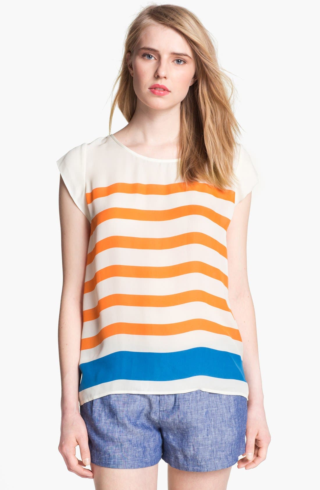 Alternate Image 1 Selected - Joie 'Terry' Stripe Silk Top