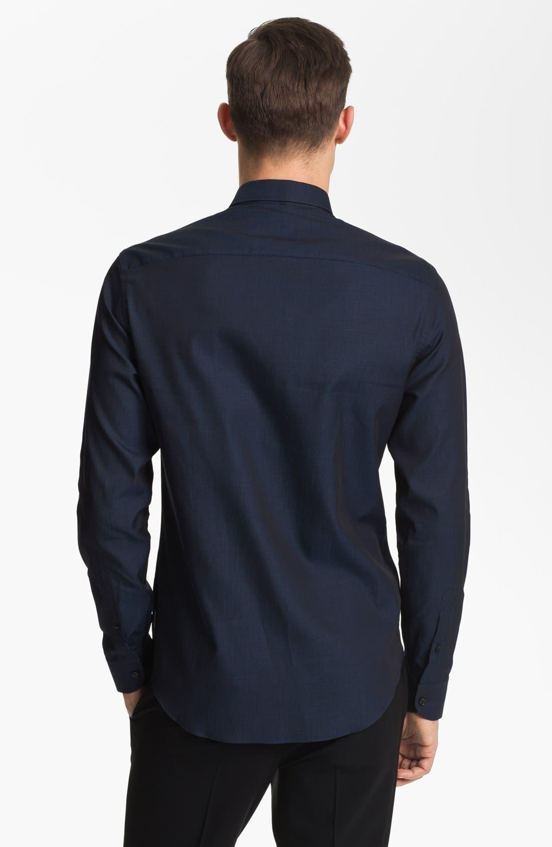 Alternate Image 2  - Armani Collezioni Piqué Cotton Sport Shirt