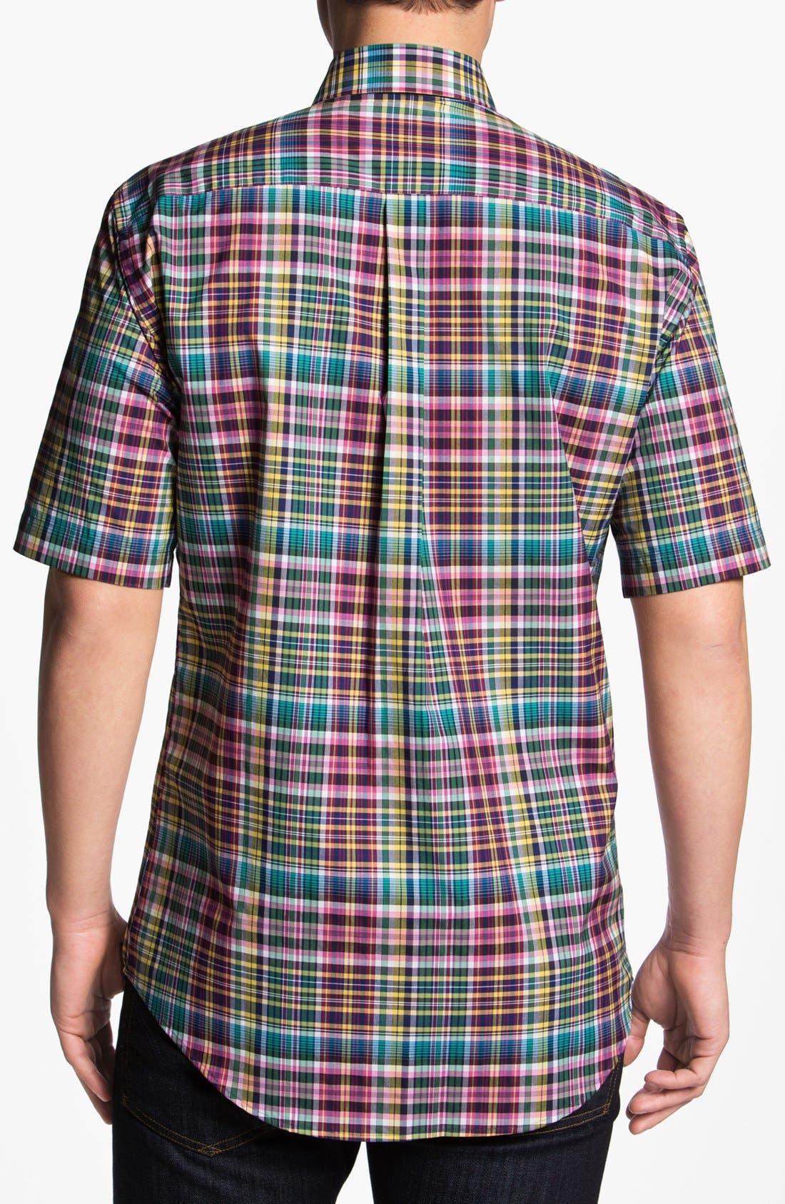 Alternate Image 2  - Peter Millar 'Cape' Regular Fit Short Sleeve Sport Shirt