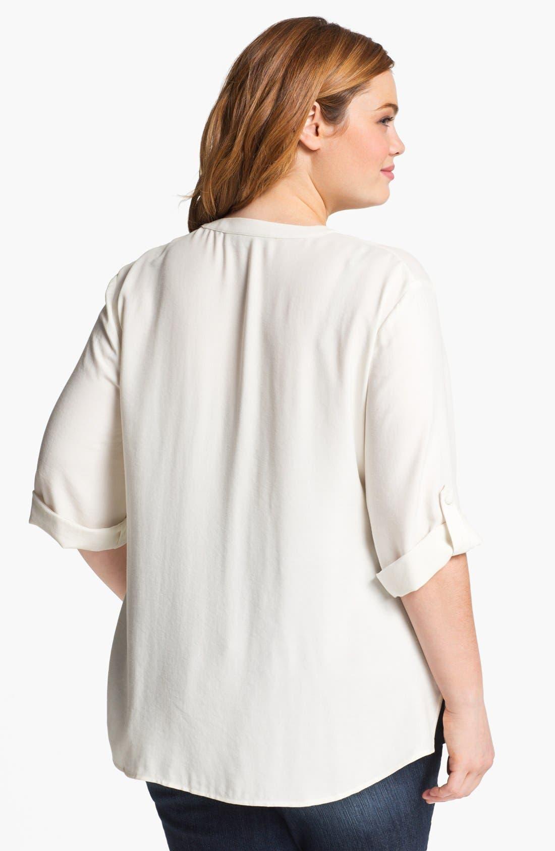 Alternate Image 2  - Sejour Twill Shirt (Plus Size)