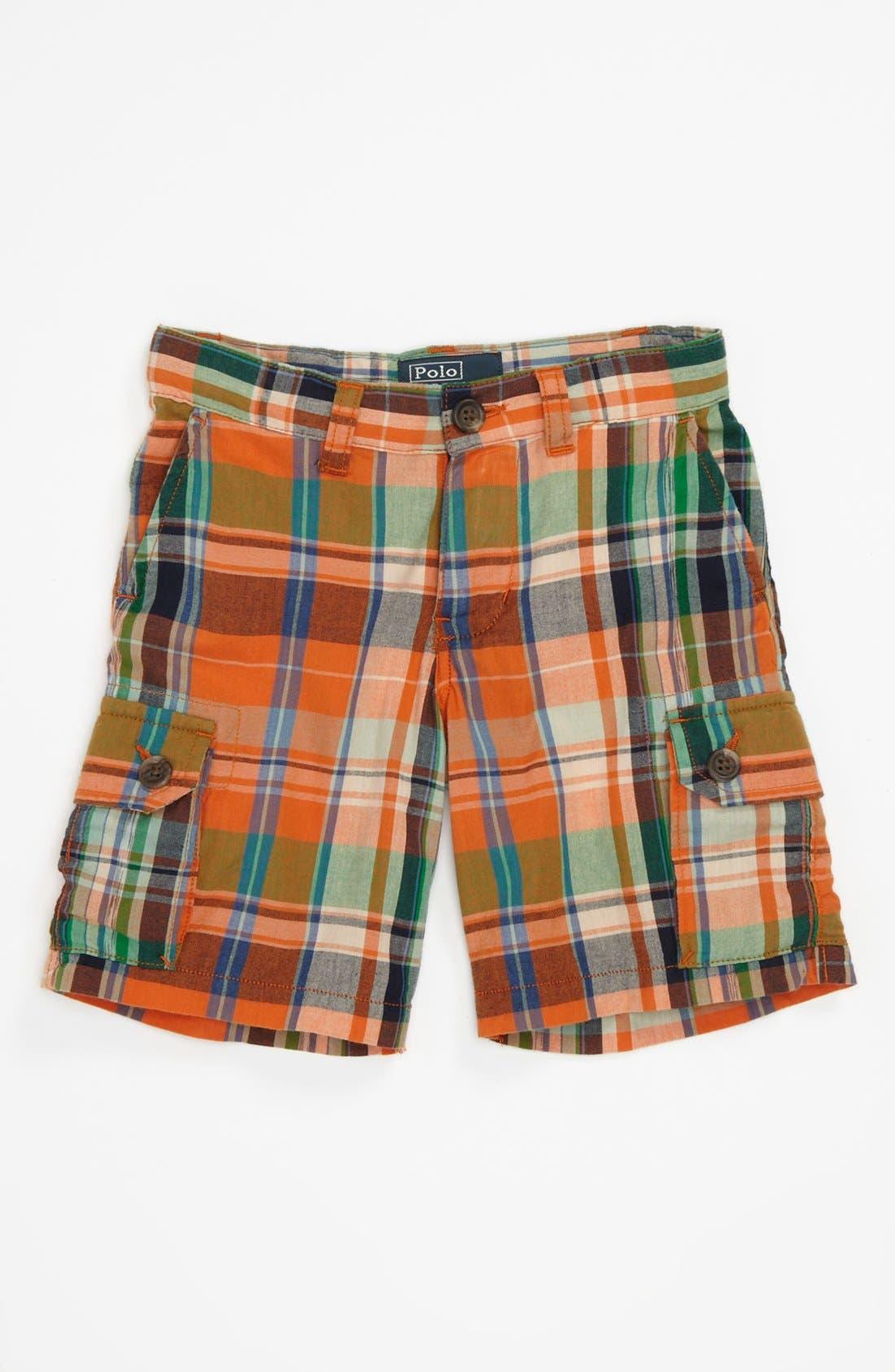 Alternate Image 1 Selected - Ralph Lauren Plaid Shorts (Toddler)