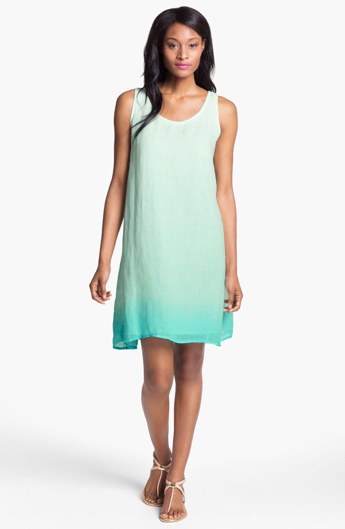 Main Image - Eileen Fisher Ombré Linen Dress