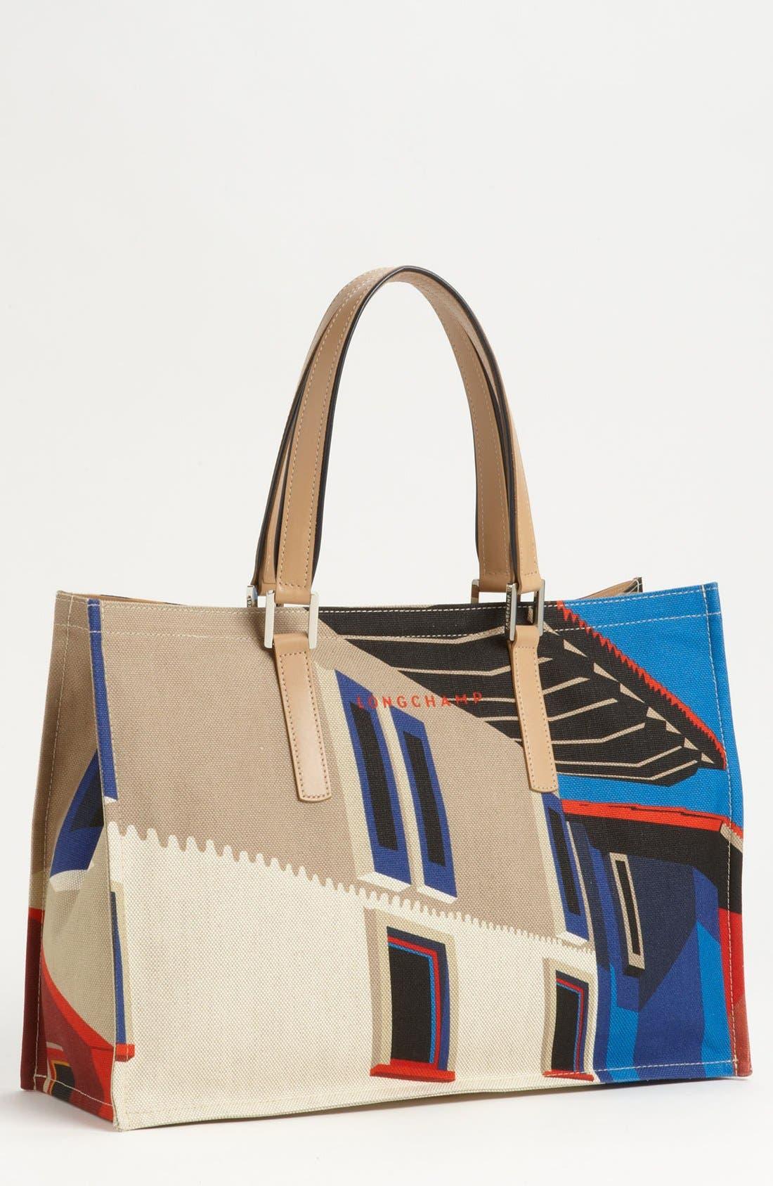 Alternate Image 1 Selected - Longchamp 'Finca Luisa - Medium' Canvas Tote
