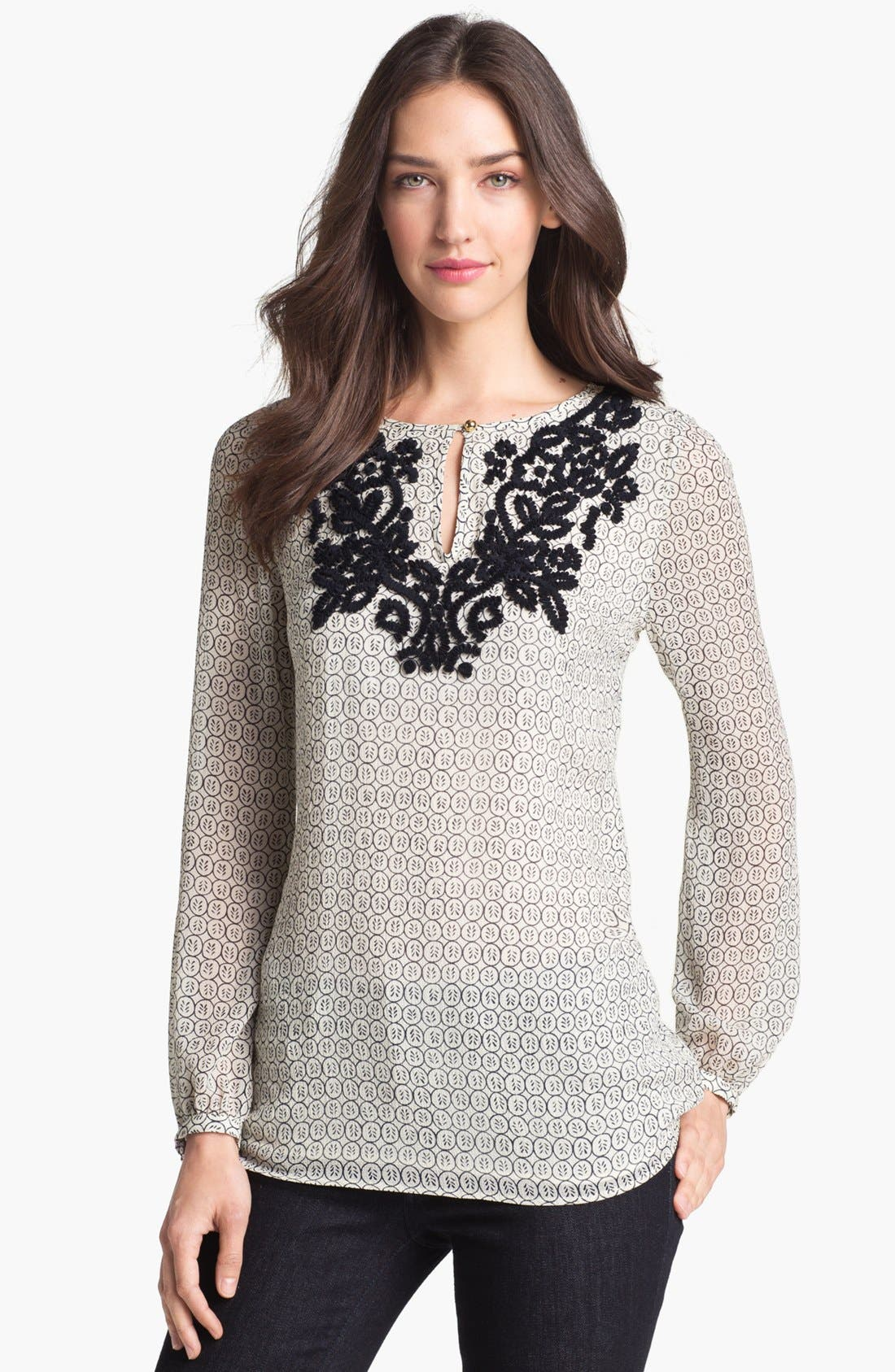 Main Image - Tory Burch 'Amali' Silk Blend Top