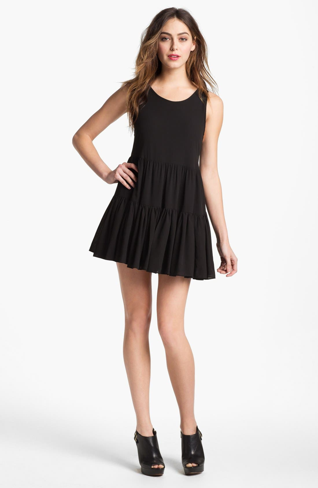 Alternate Image 1 Selected - Lovers + Friends 'Angel' Tiered Babydoll Dress