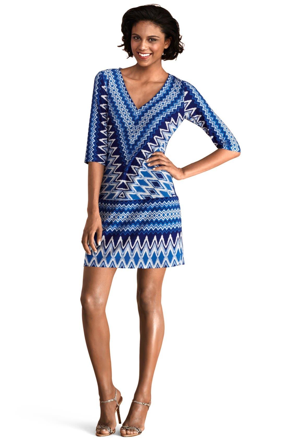 Alternate Image 1 Selected - Donna Morgan Print Jersey Shift Dress