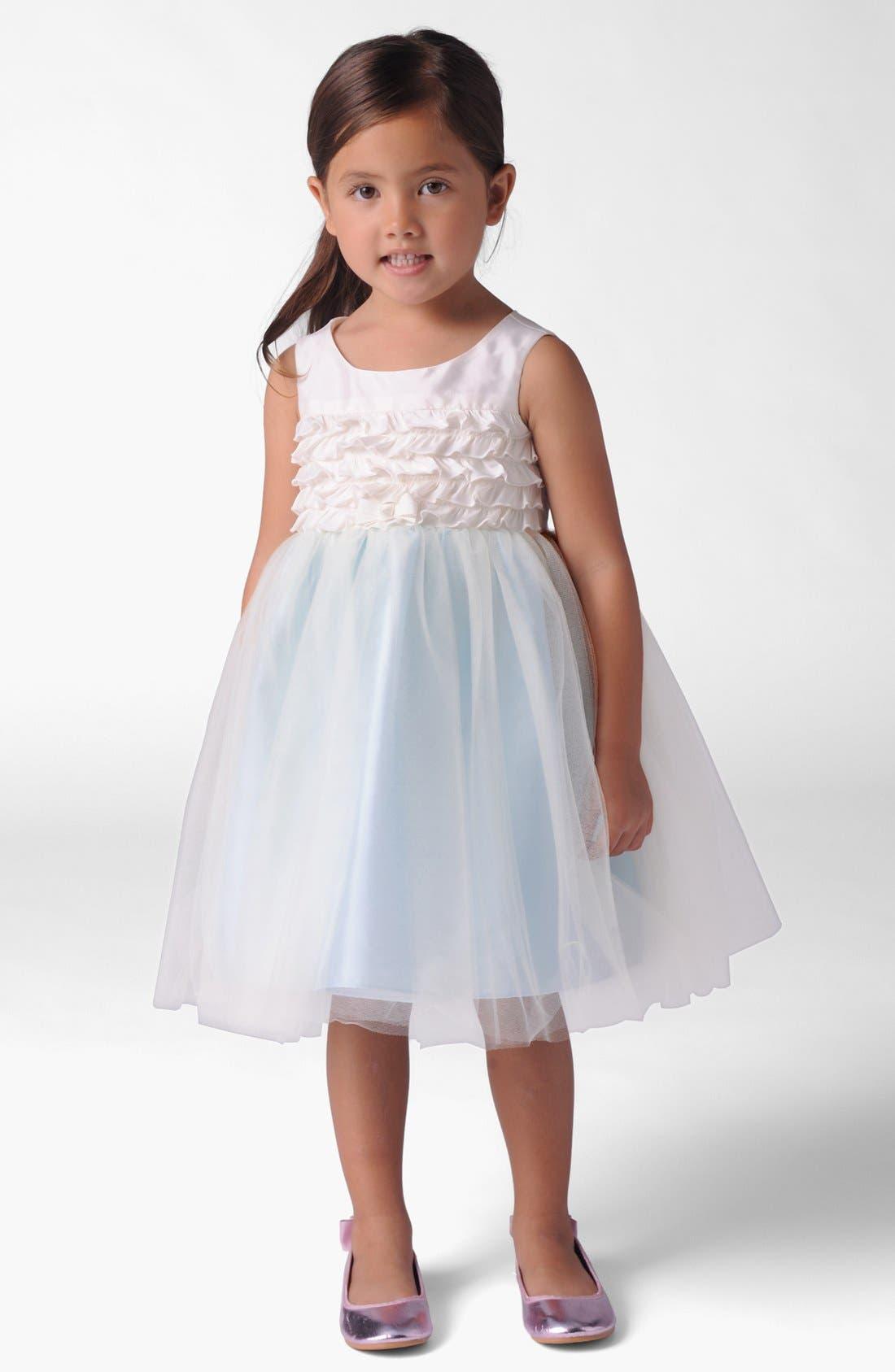 Alternate Image 1 Selected - Us Angels Ruffle Bodice Dress (Baby Girls)