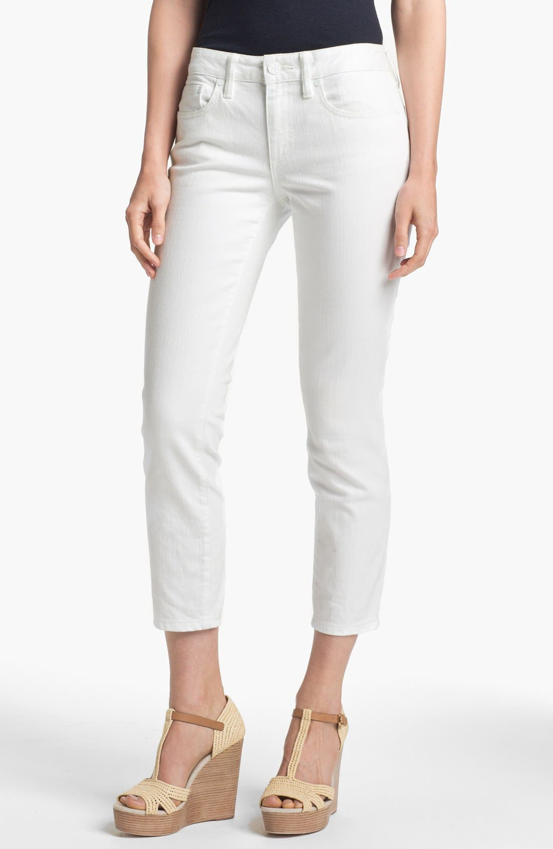 Main Image - Tory Burch 'Alexa' Crop Skinny Stretch Jeans