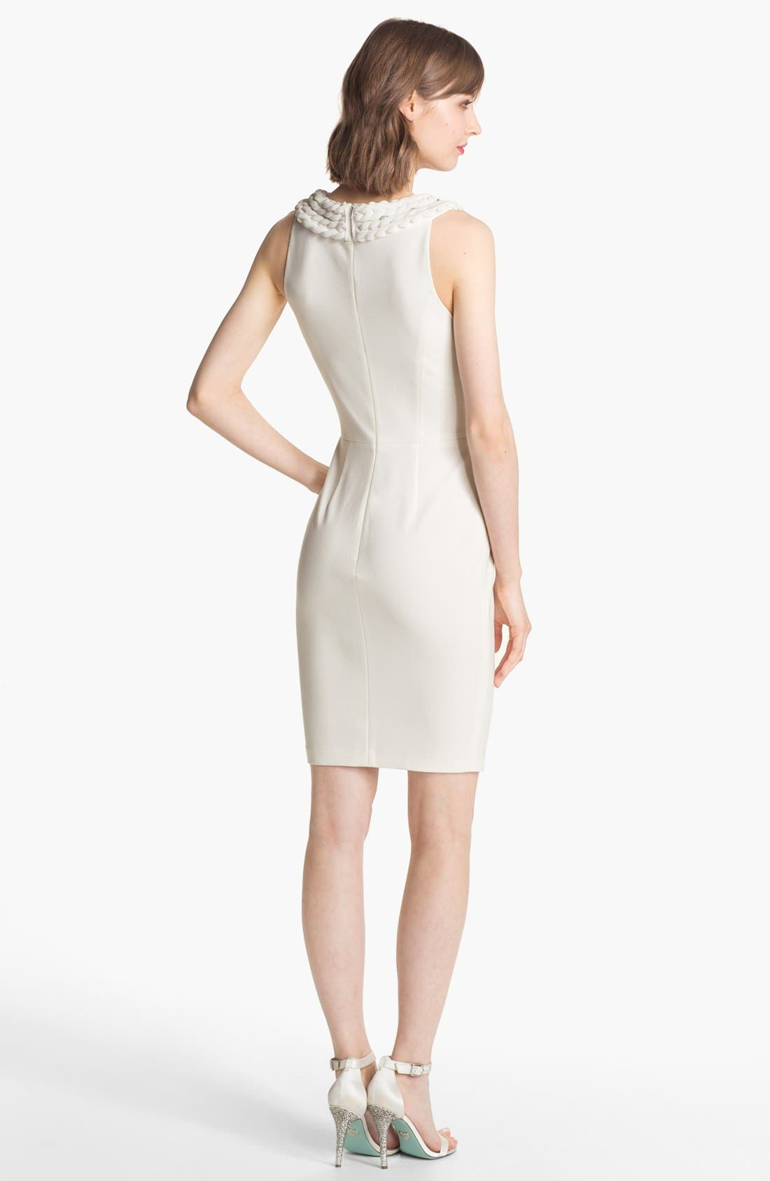 Alternate Image 2  - ERIN erin fetherston Sleeveless Ponte Sheath Dress