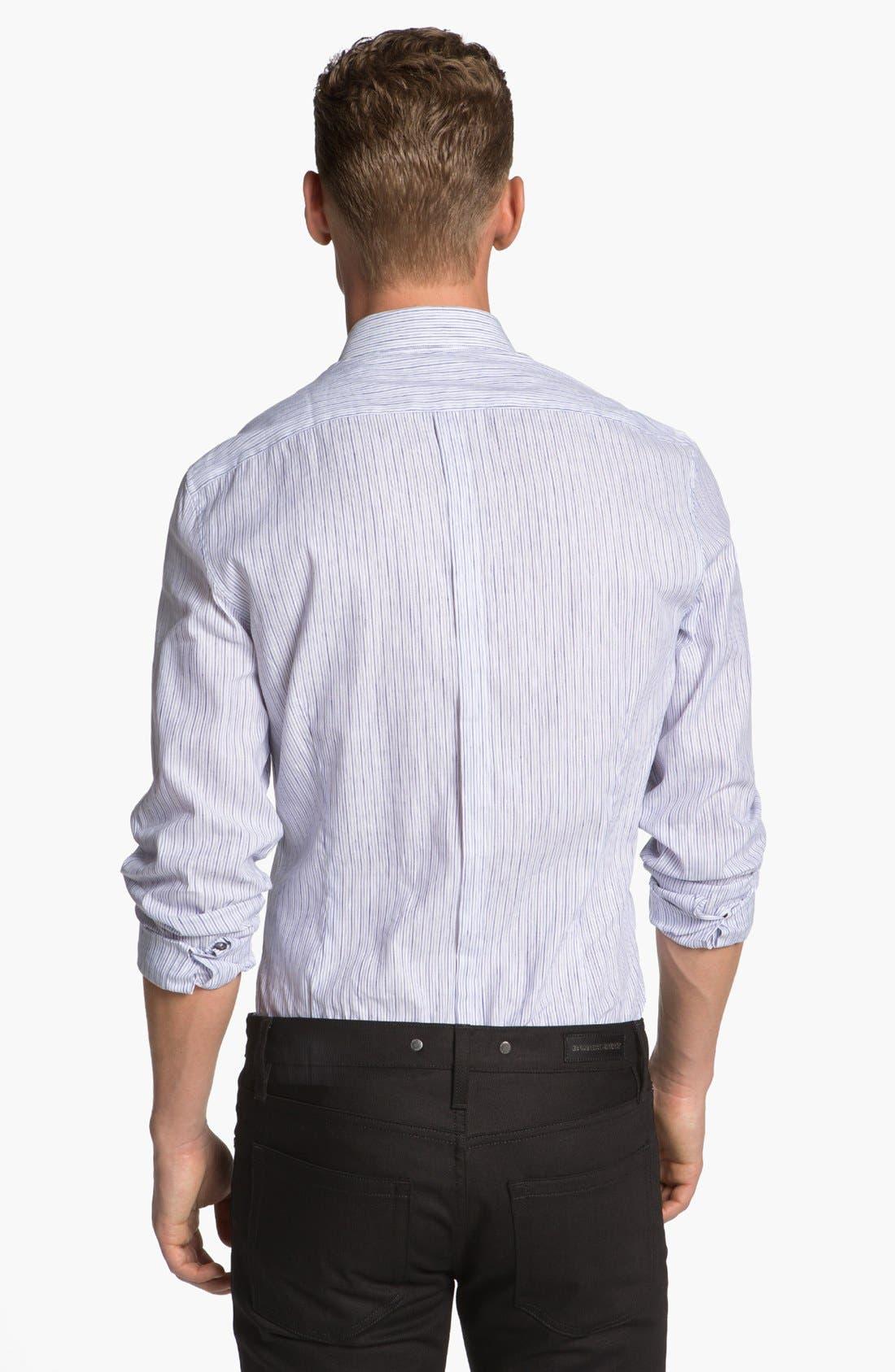 Alternate Image 2  - Burberry London Pembury Stripe Sport Shirt