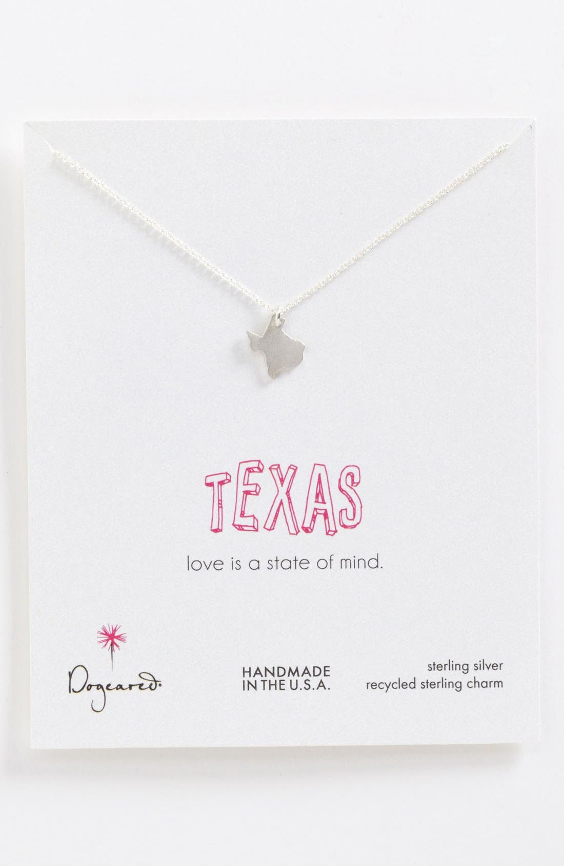 Main Image - Dogeared 'State of Mind - Texas' Pendant Necklace