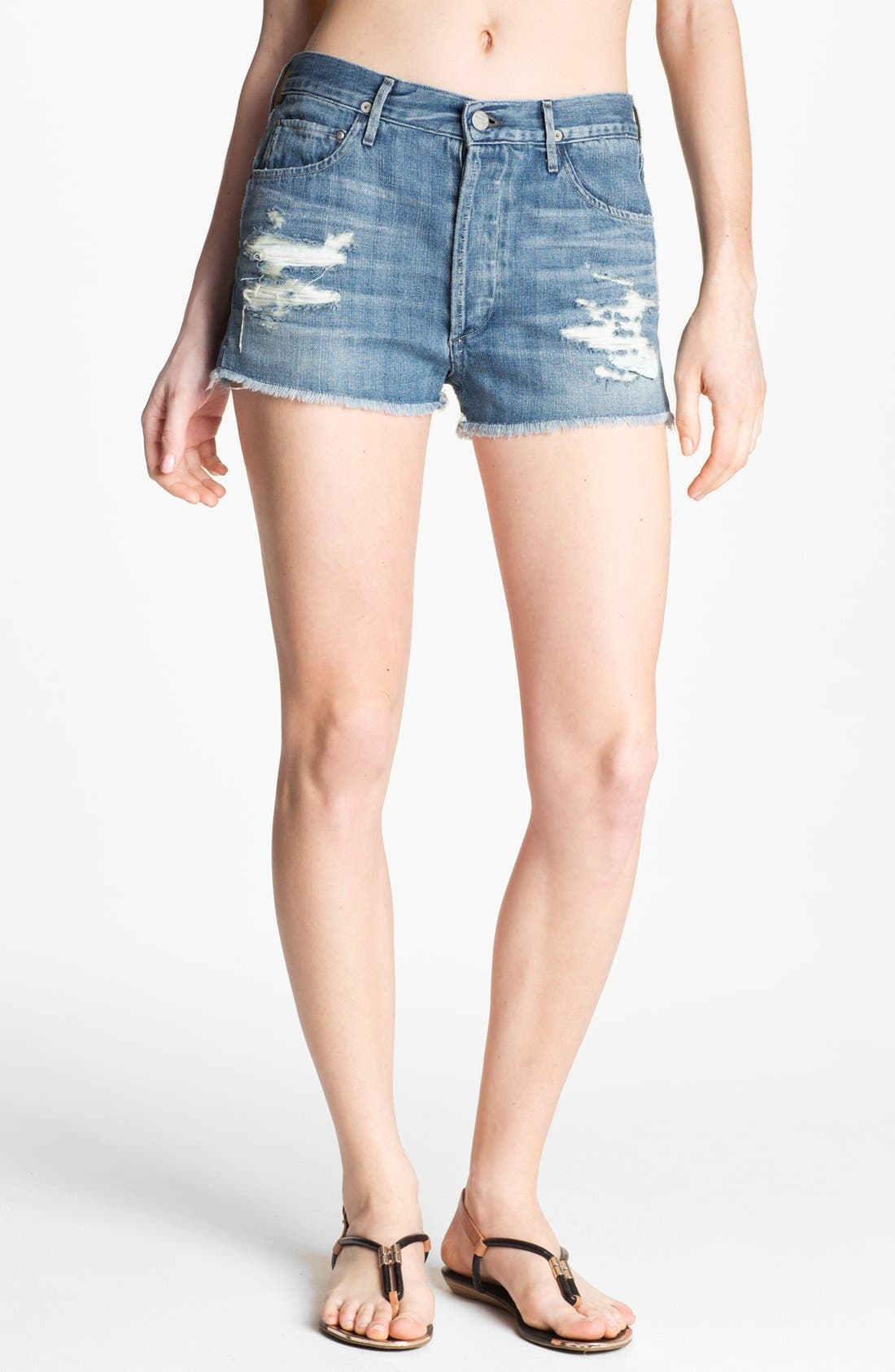 Alternate Image 1 Selected - Citizens of Humanity 'Chloe' High Waist Cutoff Shorts (Love Worn)