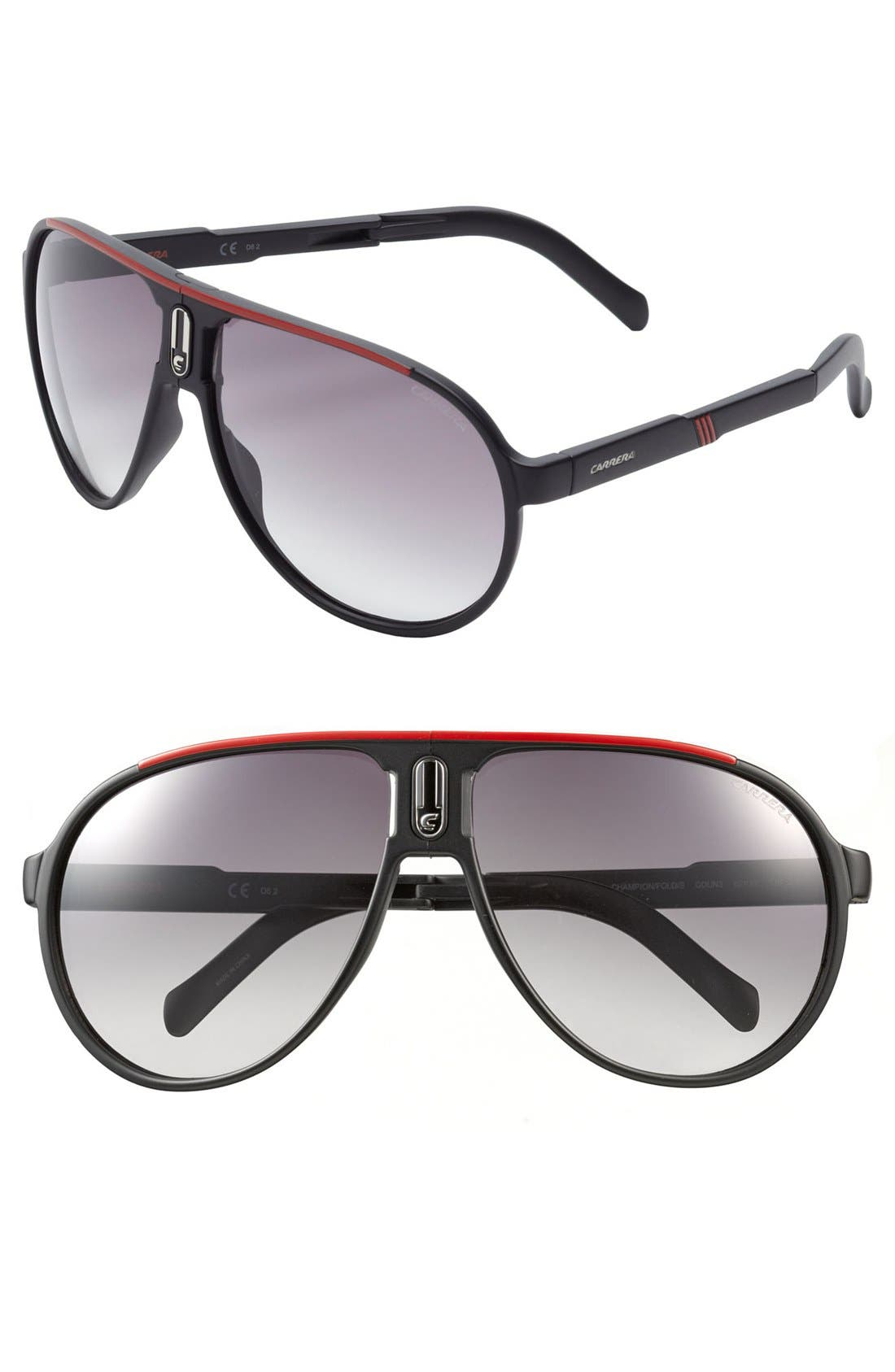 Alternate Image 1 Selected - Carrera Eyewear 'Champion' 62mm Polarized Folding Sunglasses