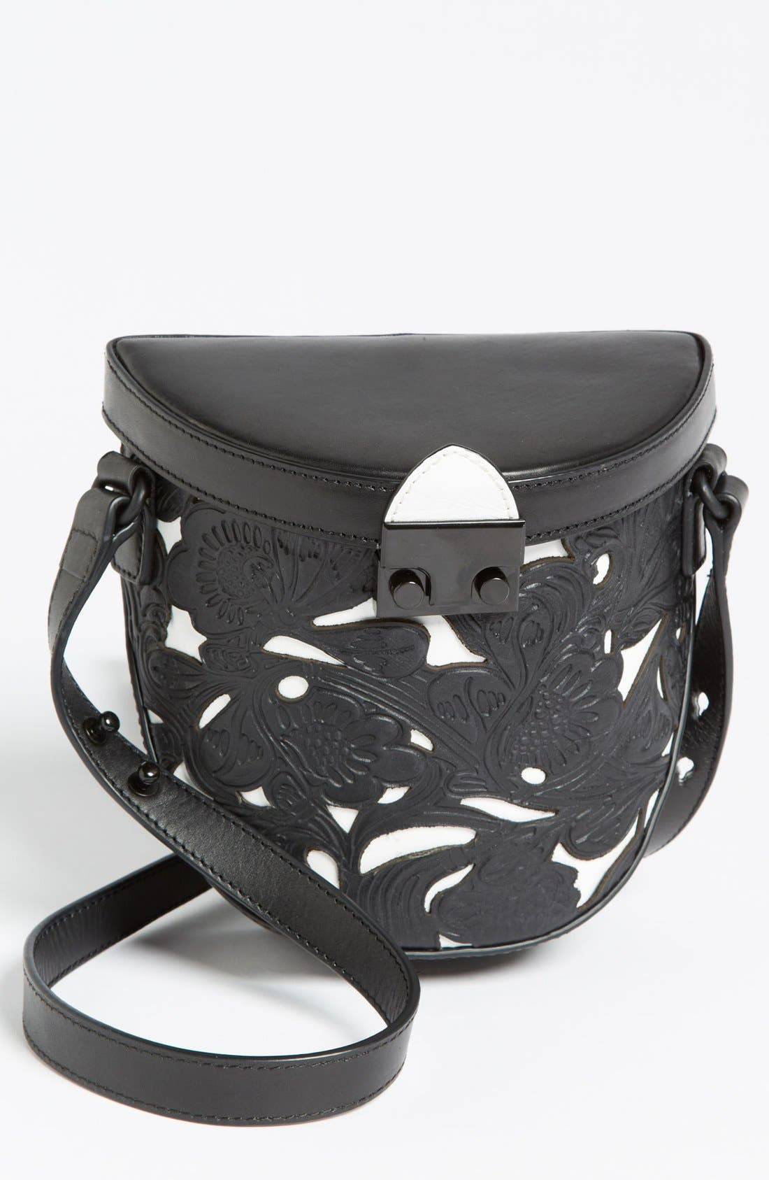 Alternate Image 1 Selected - Loeffler Randall 'Shooter' Leather Crossbody Bag, Small