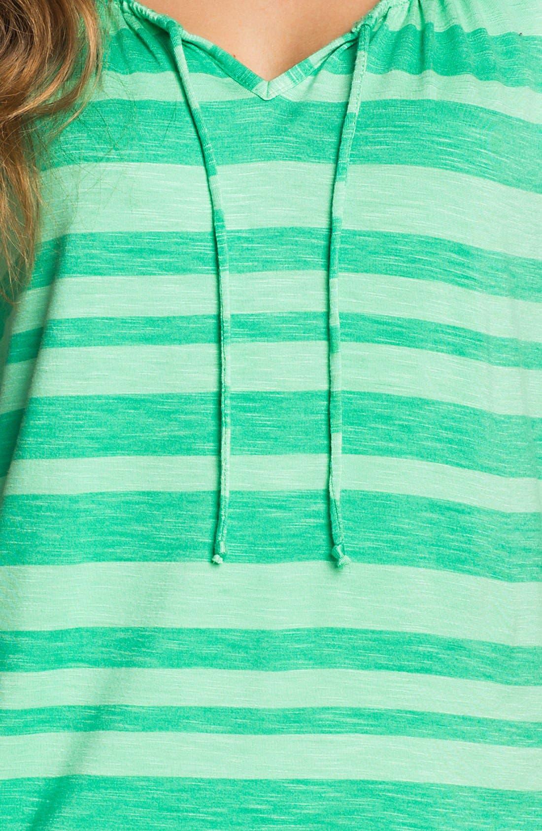 Alternate Image 3  - Amber Sun 'Reese' Tie Neck Tee