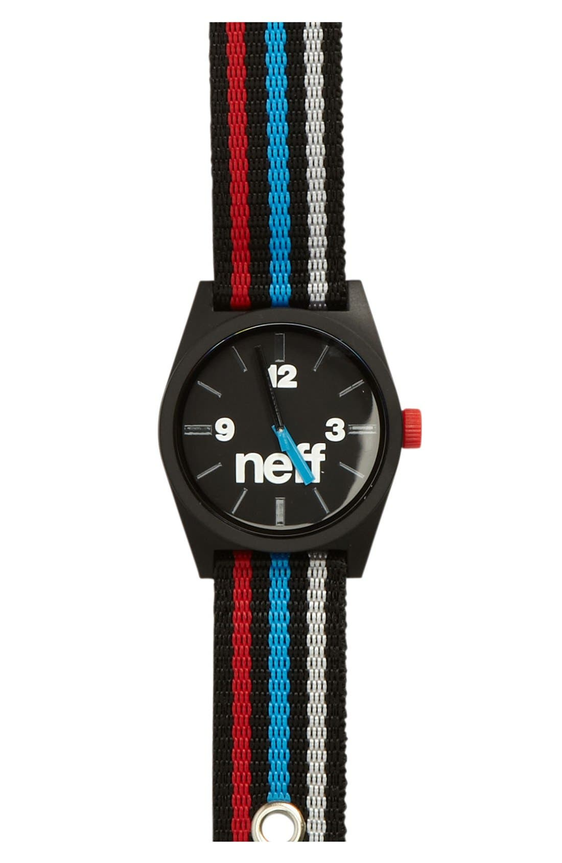 Alternate Image 1 Selected - Neff 'Daily' Fabric Strap Watch