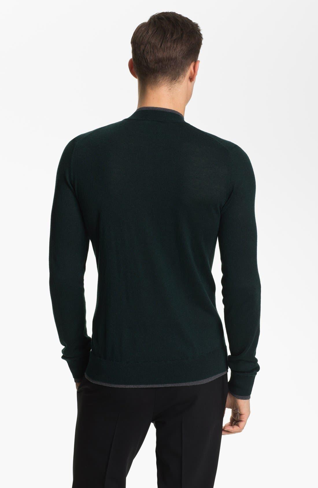 Alternate Image 2  - Armani Collezioni Quarter Zip Sweater