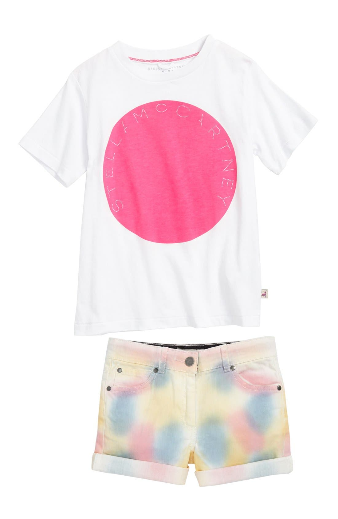 Alternate Image 1 Selected - Stella McCartney Tee & Shorts (Toddler, Little Girls & Big Girls)