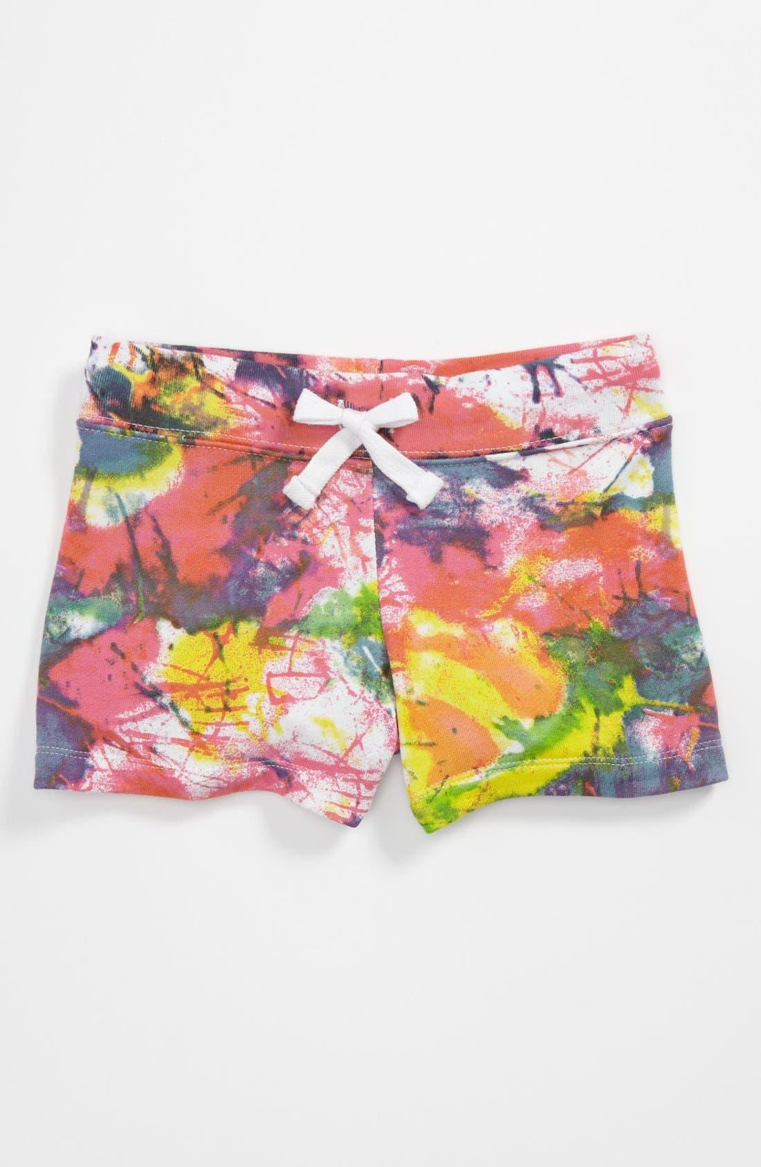 Main Image - Flowers by Zoe 'Splatter' Shorts (Little Girls)