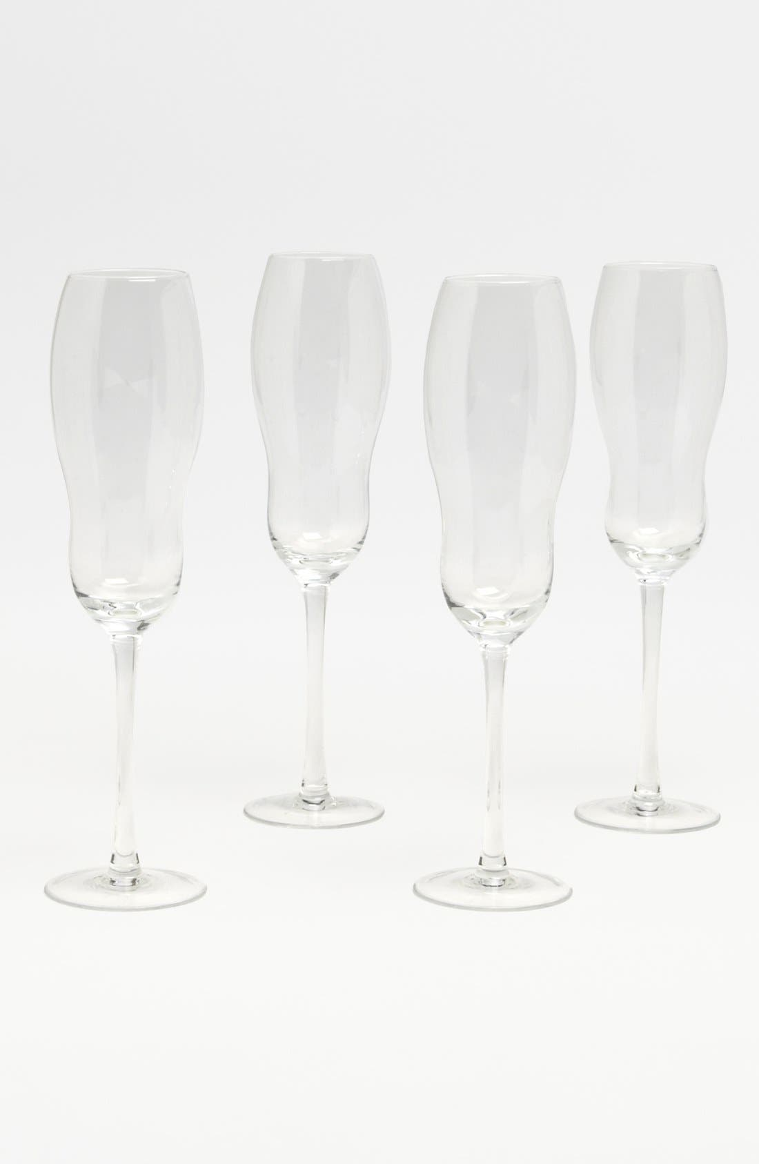 Main Image - 'Bubble' Champagne Flutes (Set of 4)