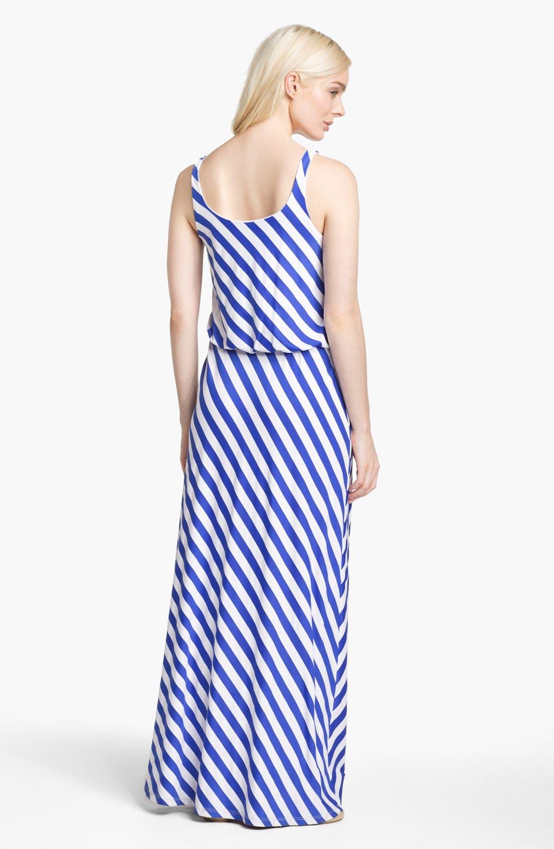 Alternate Image 2  - Susana Monaco Diagonal Stripe Maxi Dress