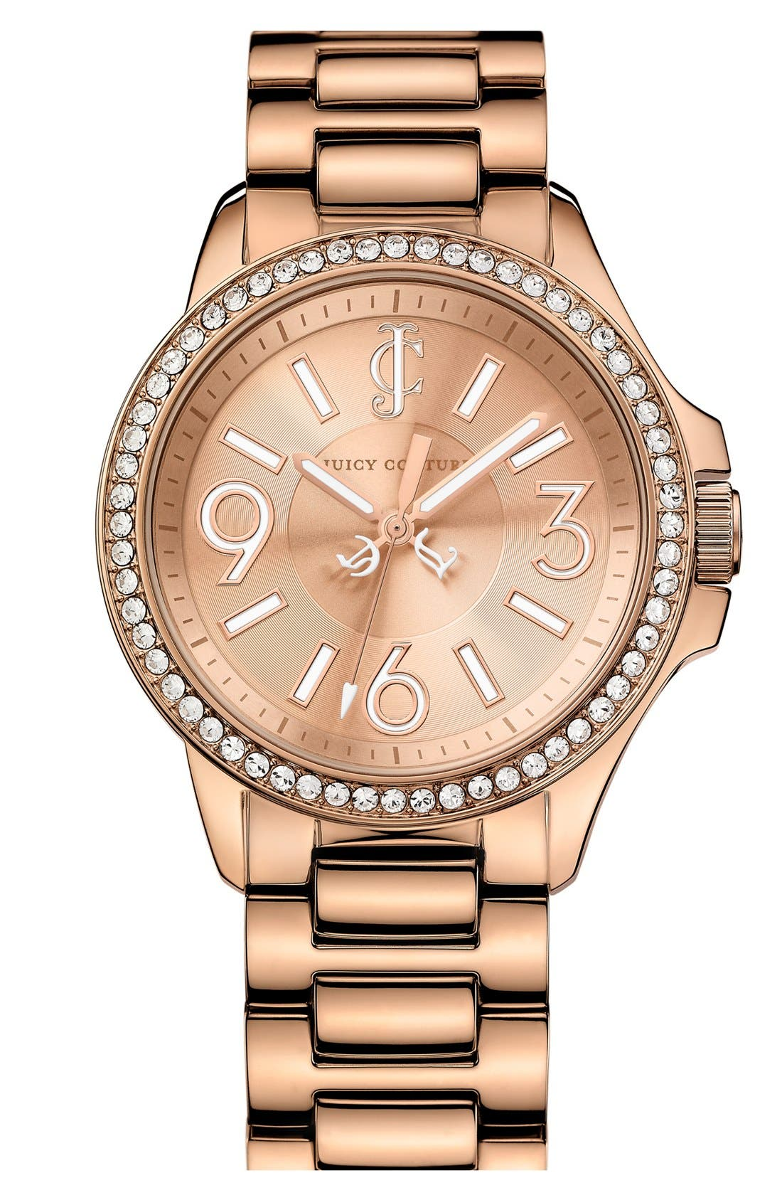 Main Image - Juicy Couture 'Jetsetter' Round Bracelet Watch, 38mm