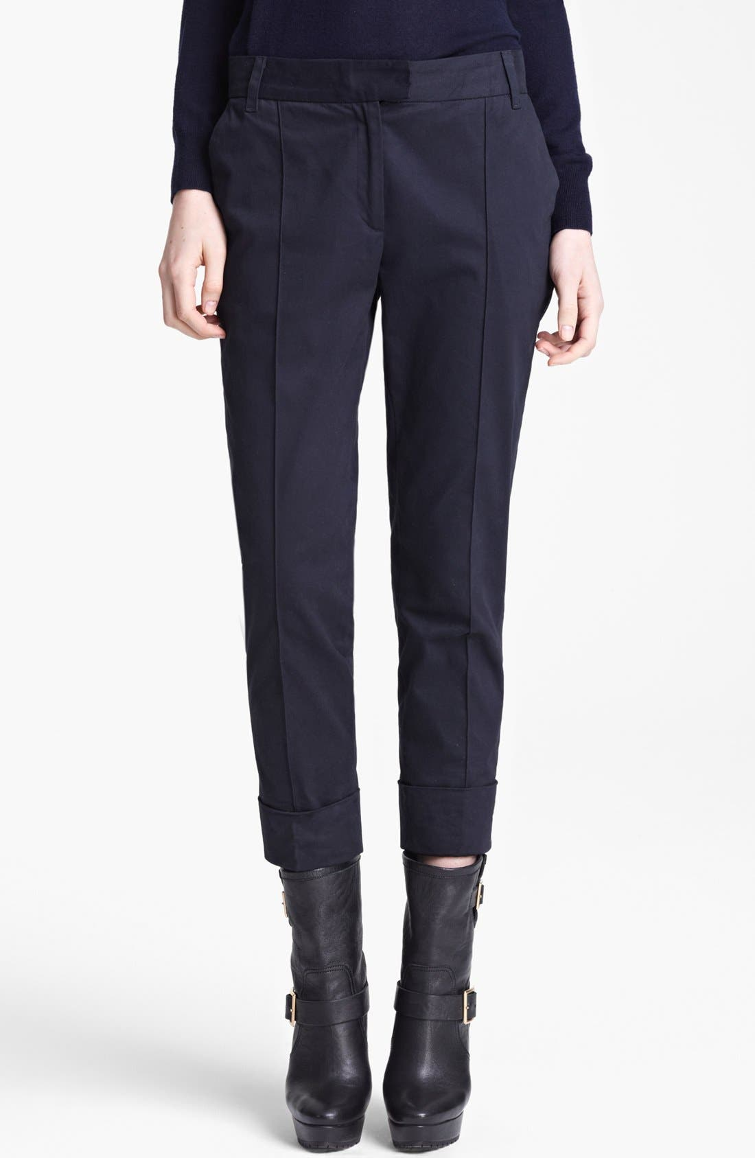 Main Image - Band of Outsiders Stretch Sateen Capri Pants