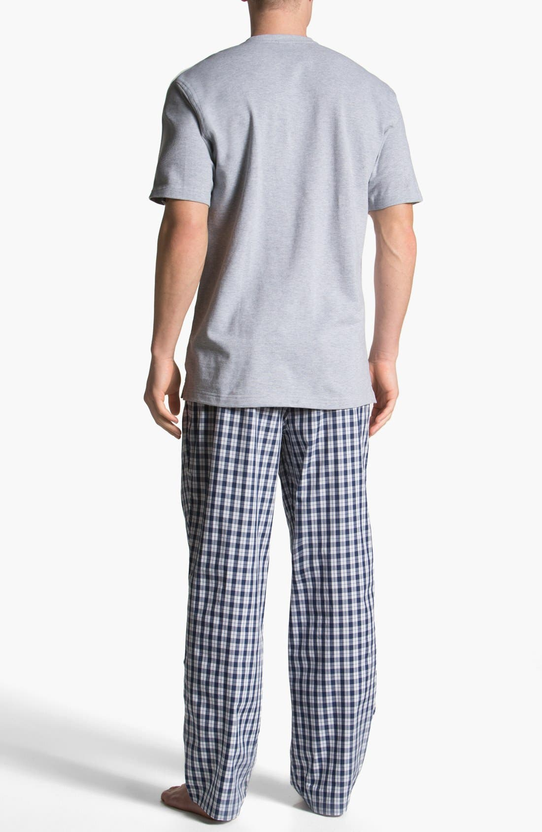 Alternate Image 2  - Brooks Brothers Cotton Pajamas