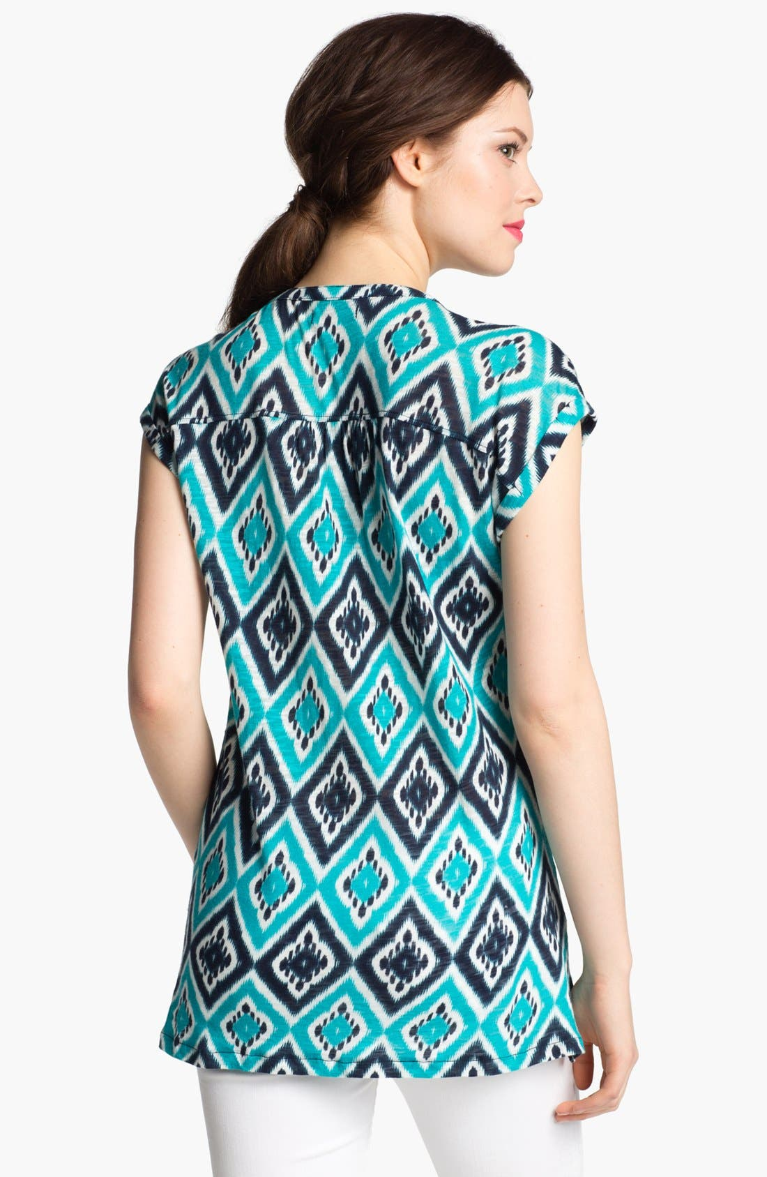 Alternate Image 2  - Lucky Brand 'Ikat Diamond' Cotton Top