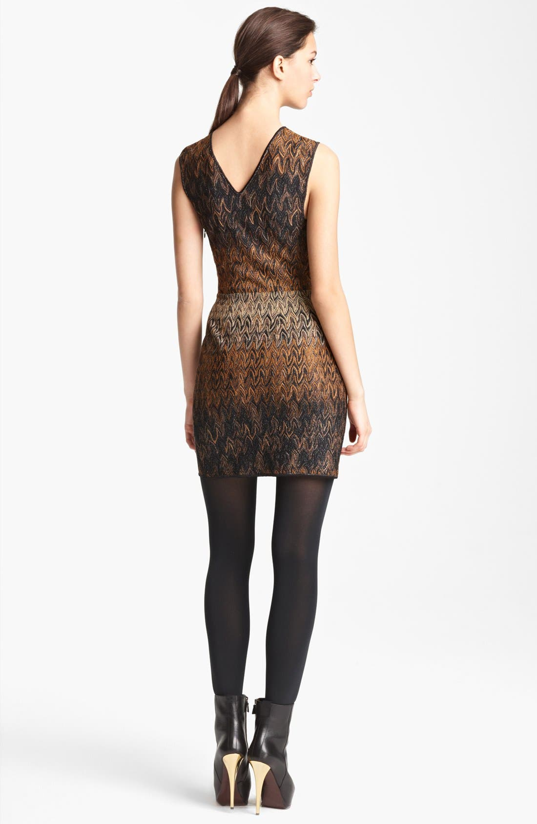 Alternate Image 2  - Missoni Flame Stitch Knit Dress