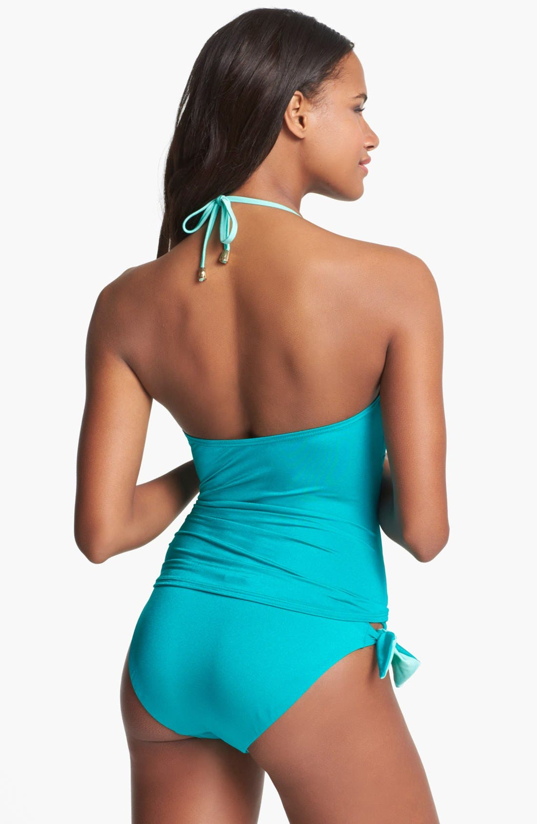 Alternate Image 4  - Vince Camuto Halter Tankini Top