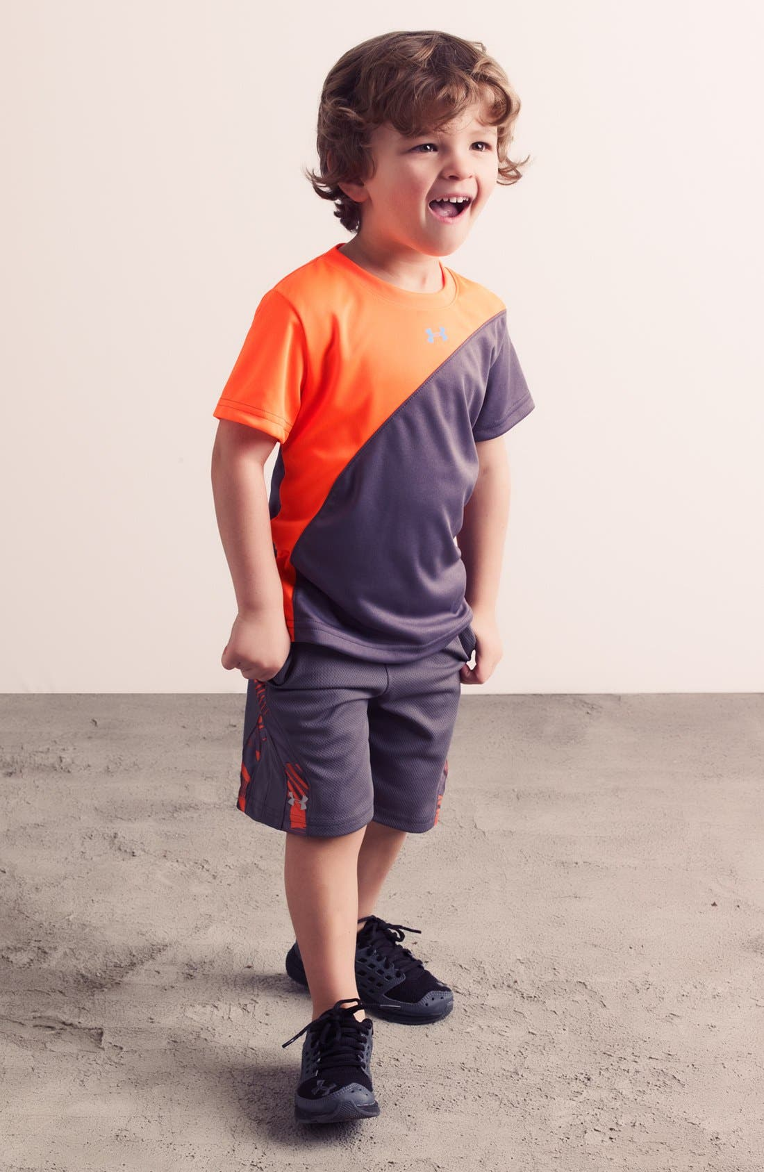 Alternate Image 1 Selected - Under Armour T-Shirt, Shorts & Sneaker (Toddler)