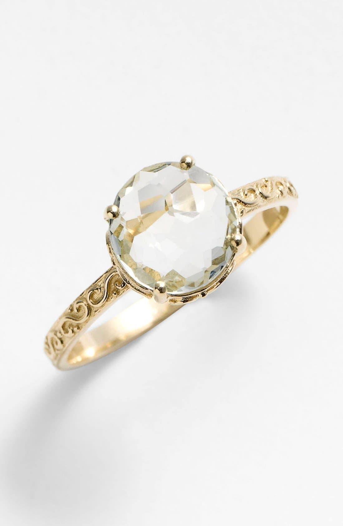 Alternate Image 1 Selected - KALAN by Suzanne Kalan Round Stone Filigree Ring