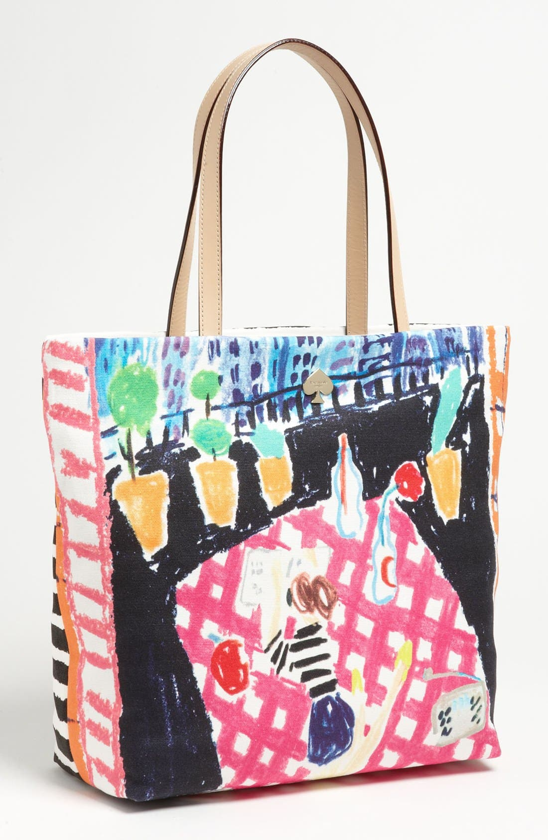 Main Image - kate spade new york 'day tripper' canvas bon shopper