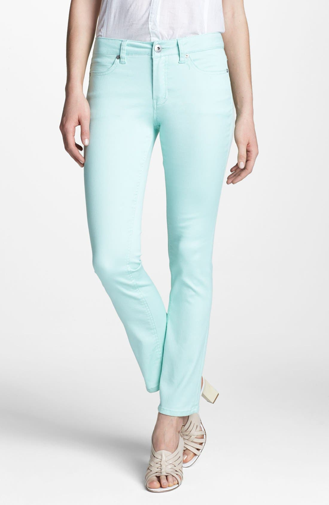 Alternate Image 1 Selected - Liverpool Jeans Company 'Sadie' Colored Straight Leg Stretch Jeans (Petite) (Online Only)