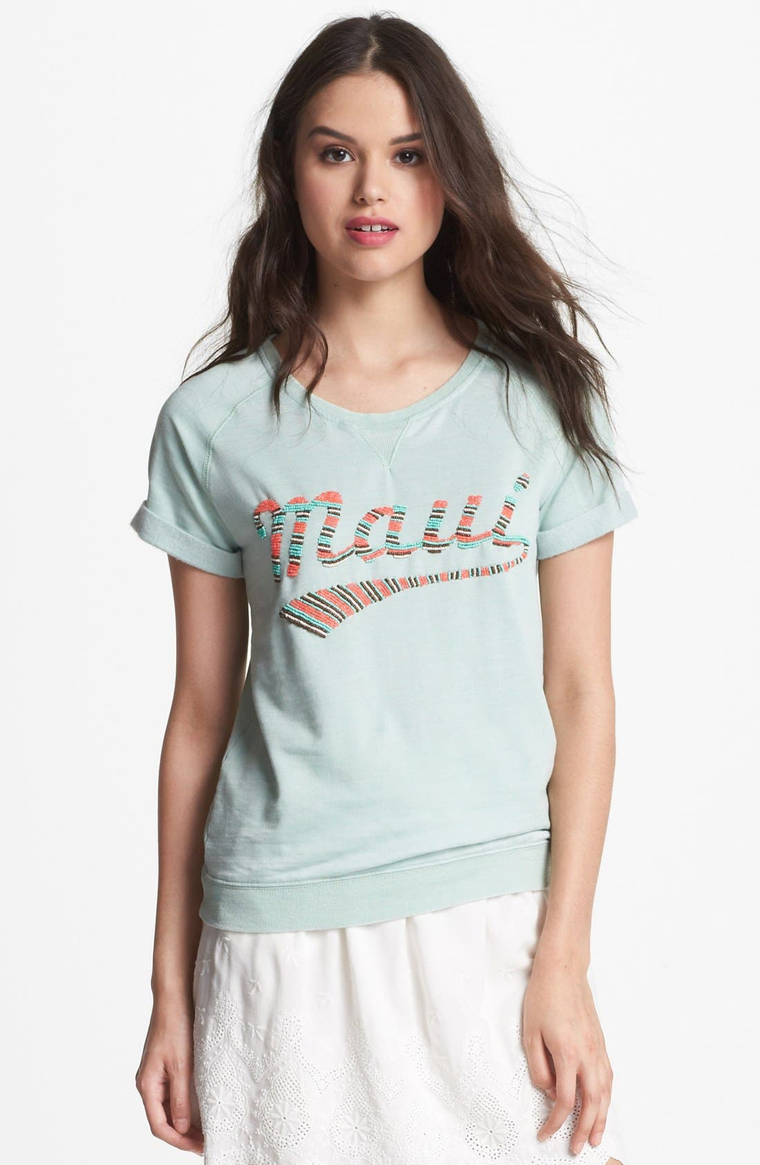 Alternate Image 1 Selected - Maison Scotch 'Surf' Short Sleeve Top
