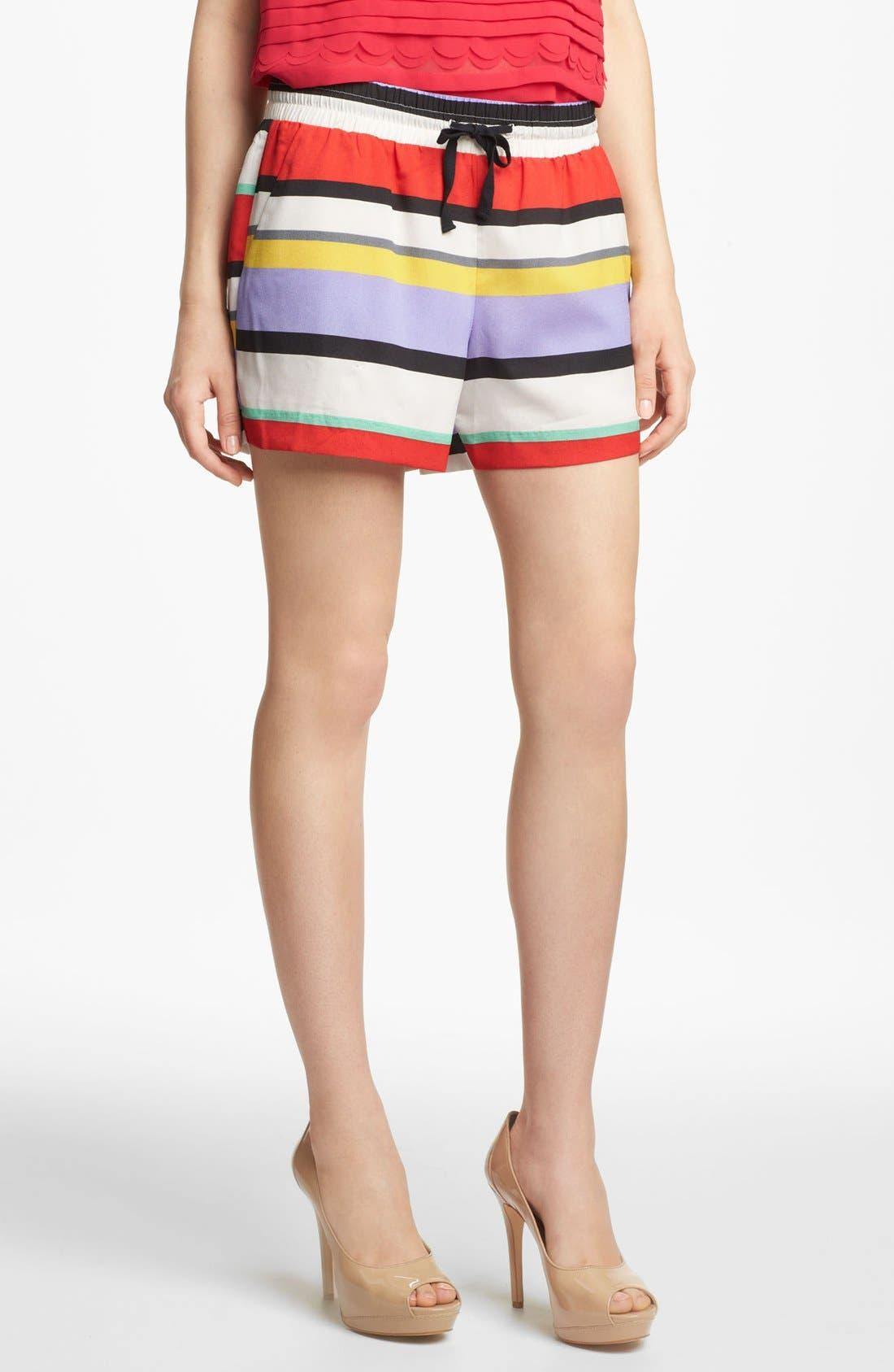 Alternate Image 2  - Kensie Stripe Drawstring Shorts