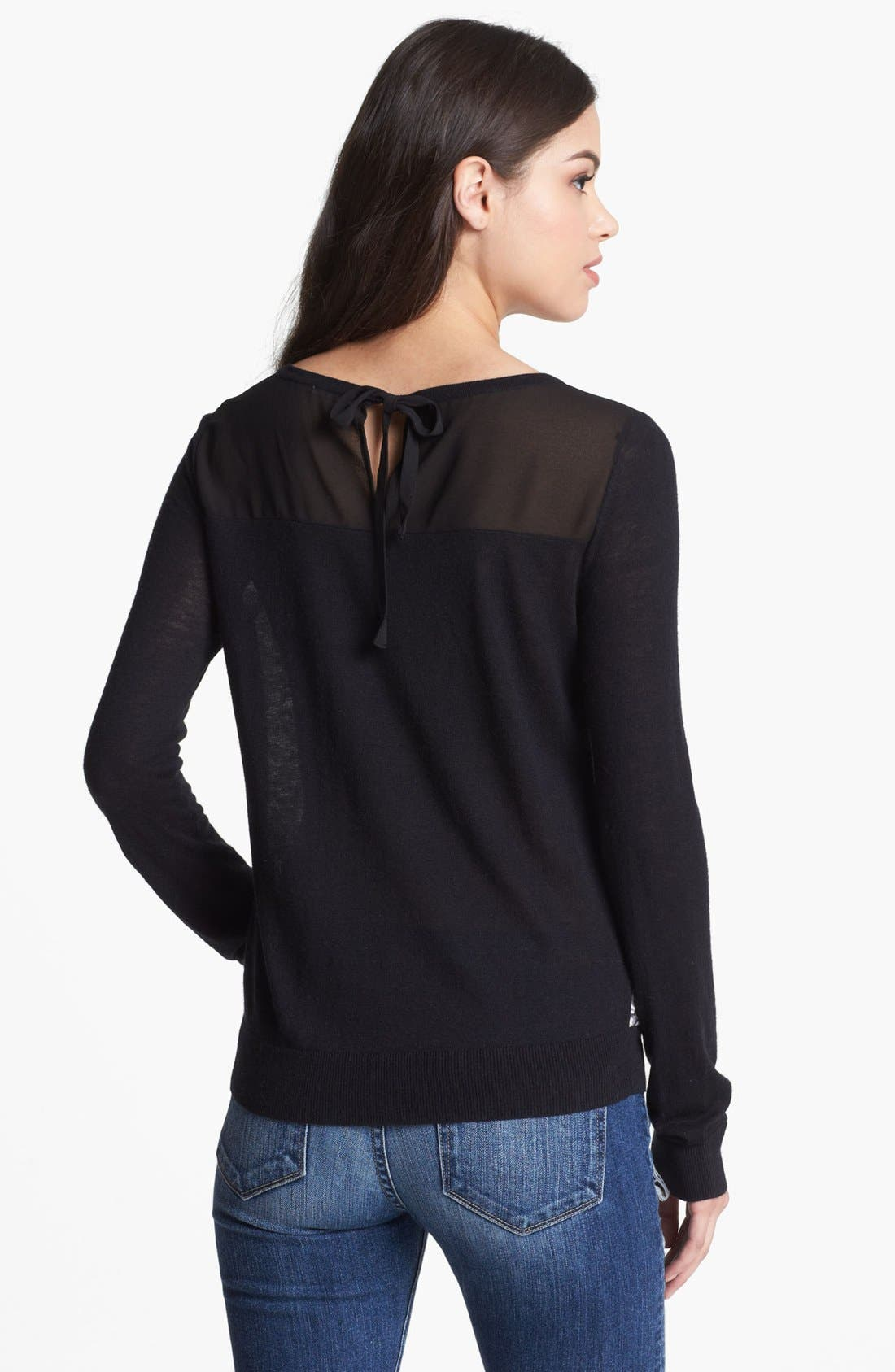 Alternate Image 2  - Hinge® Lace Front Sweater