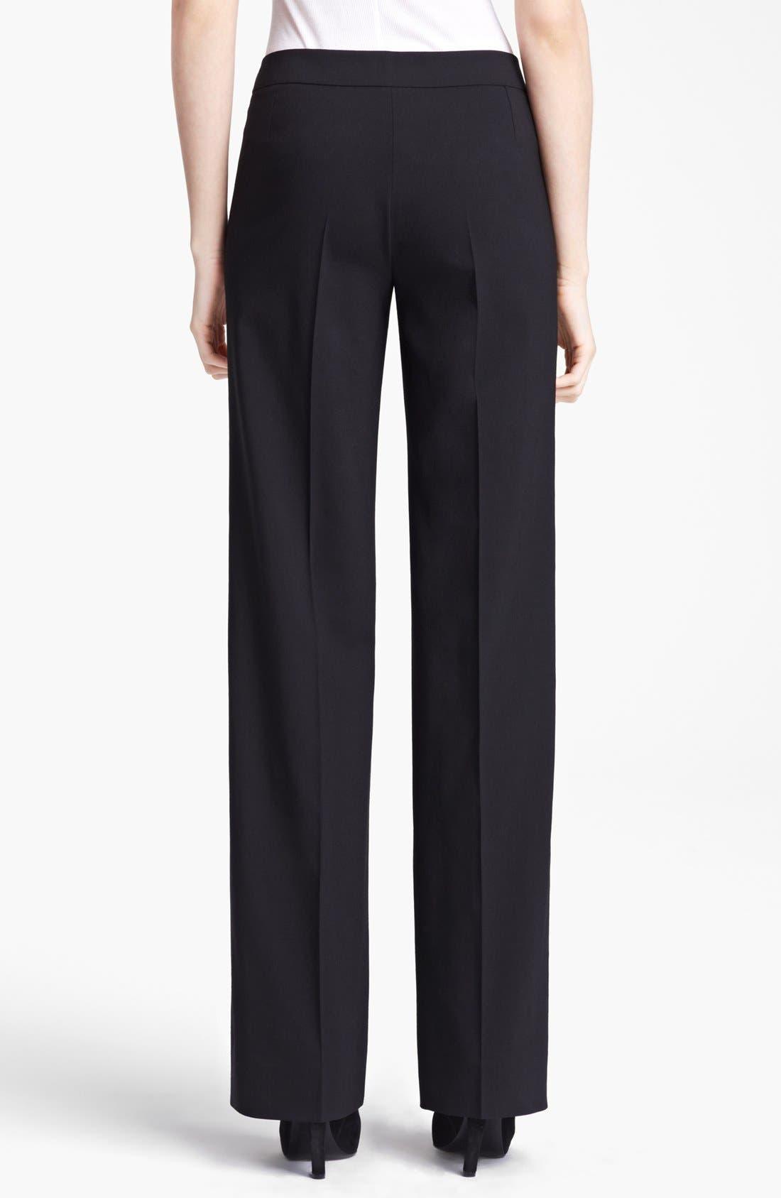 Alternate Image 2  - Armani Collezioni Narrow Leg Stretch Wool Pants