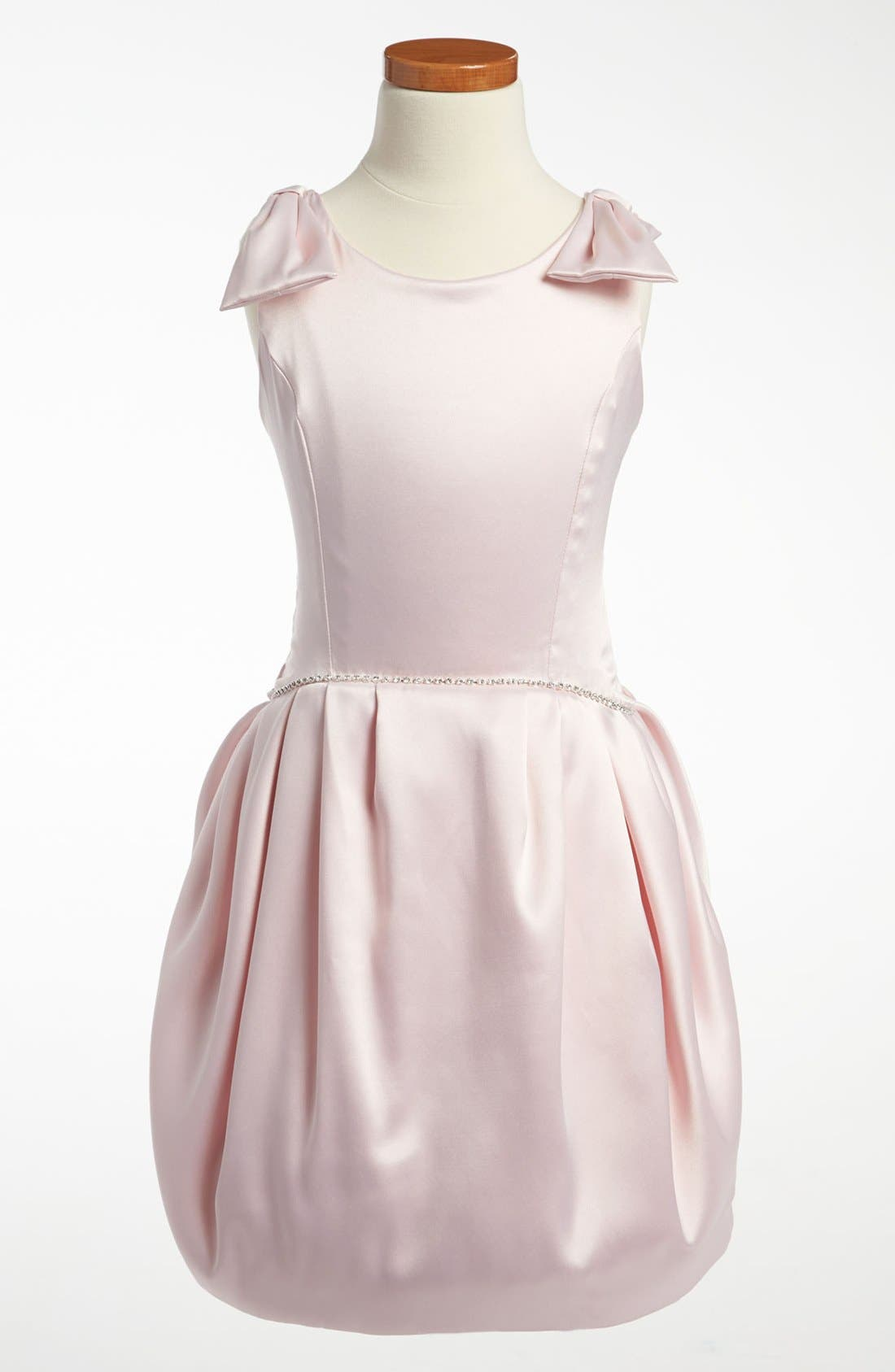 Main Image - La Piccola Danza Kidswear Satin Pleated Dress (Little Girls & Big Girls)