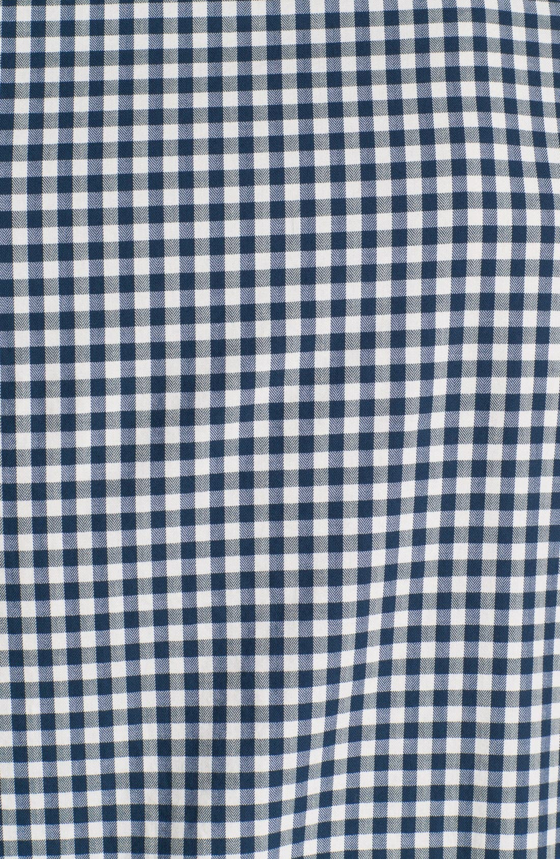 Alternate Image 3  - Wallin & Bros. Gingham Trim Fit Sport Shirt